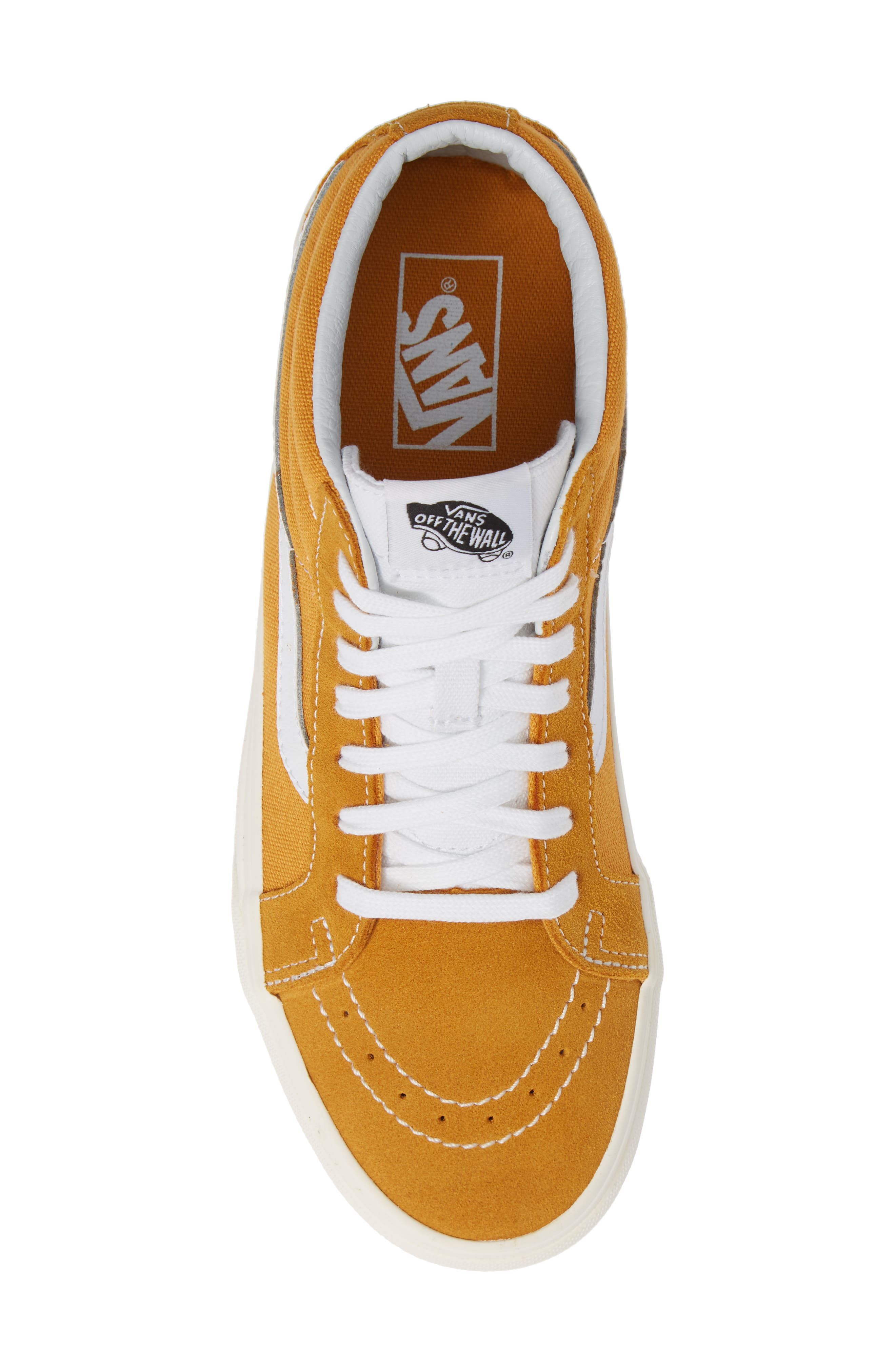 Sk8-Mid Reissue Sneaker,                             Alternate thumbnail 5, color,                             SUNFLOWER CANVAS/SUEDE