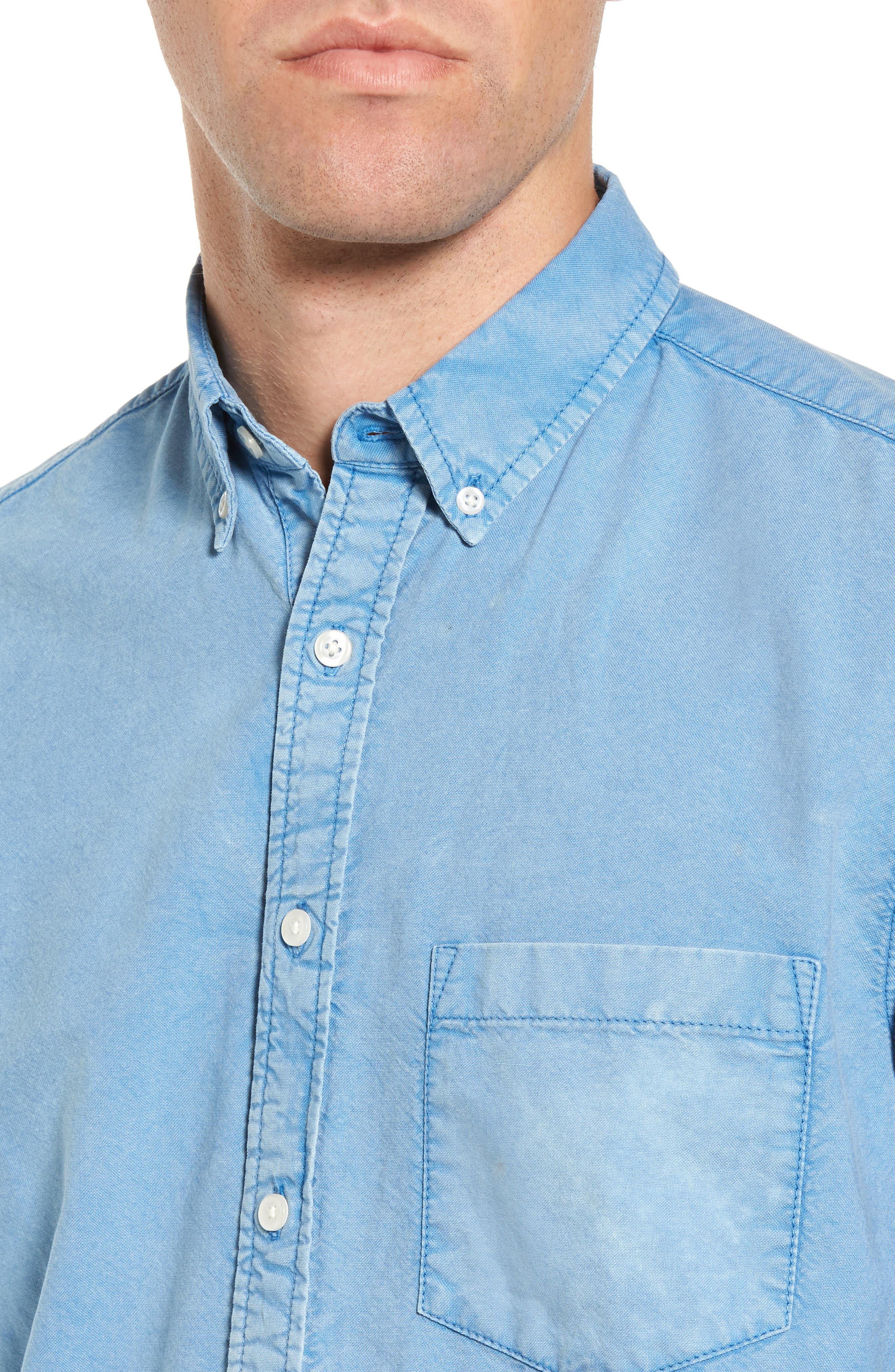 Regular Fit Oxford Sport Shirt,                             Alternate thumbnail 4, color,                             460