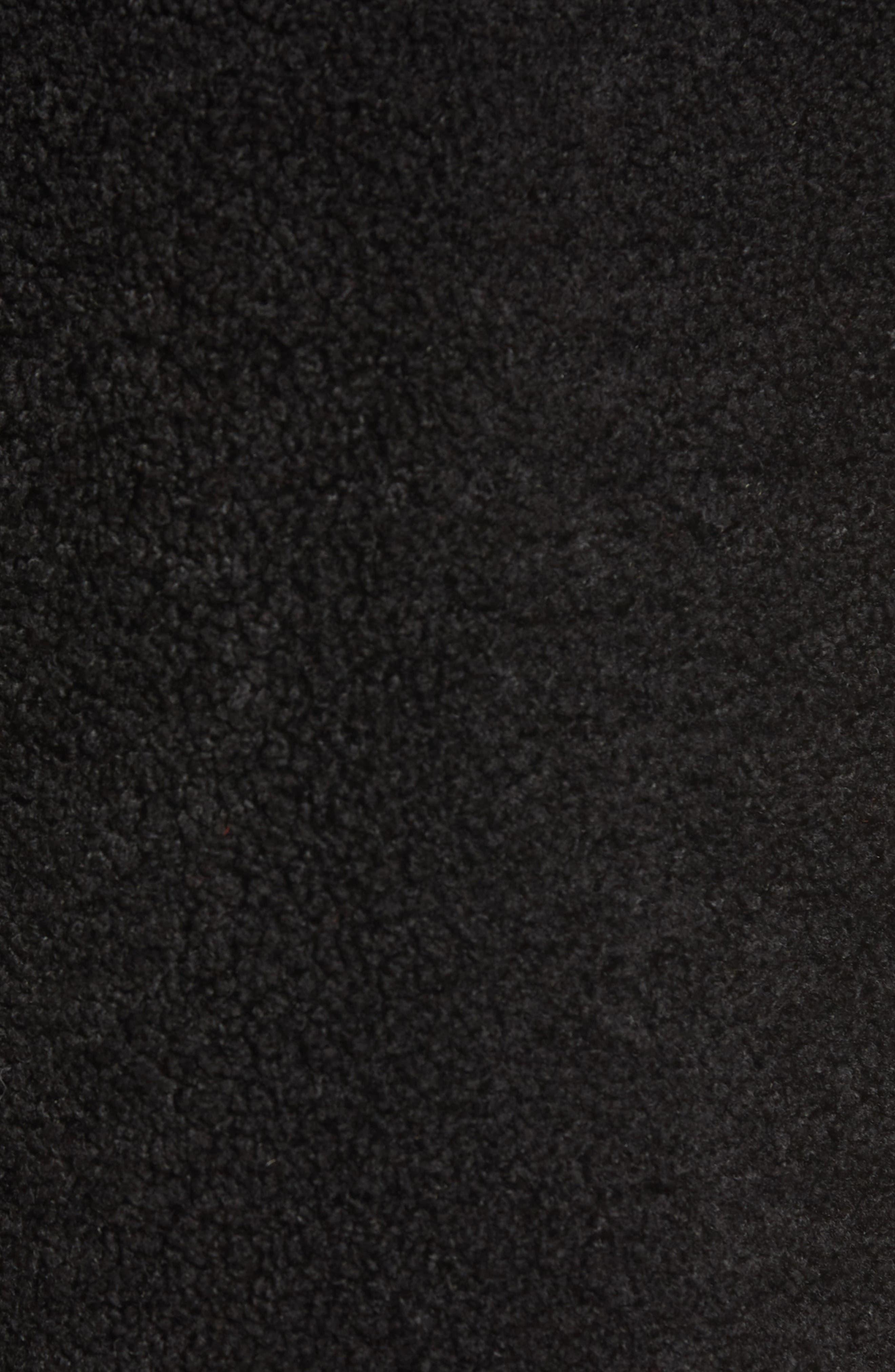 Reversible Lux Faux Shearling Coat,                             Alternate thumbnail 8, color,                             BLACK