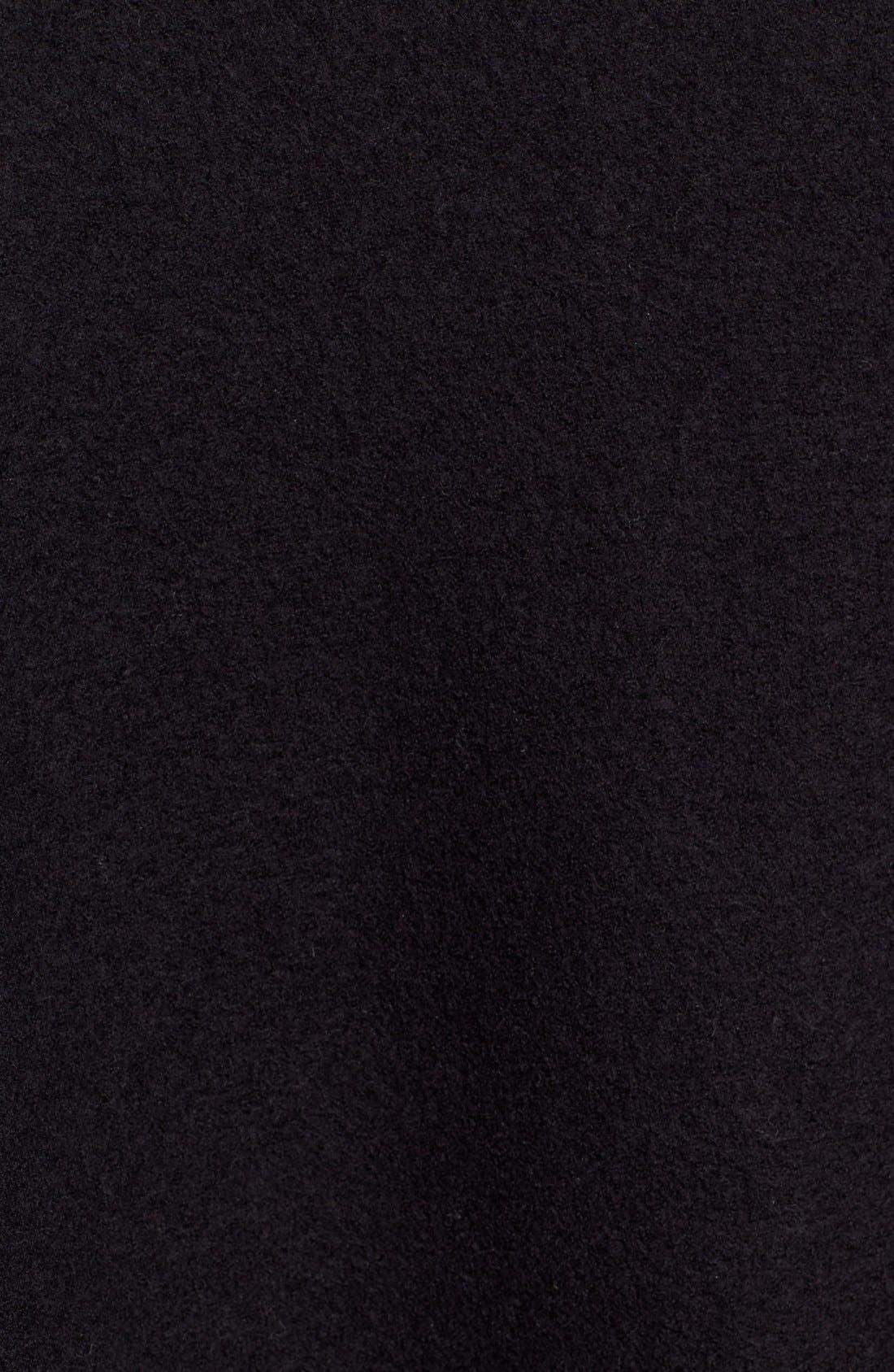 EILEEN FISHER,                             Boiled Wool Funnel Neck Coat,                             Alternate thumbnail 2, color,                             001