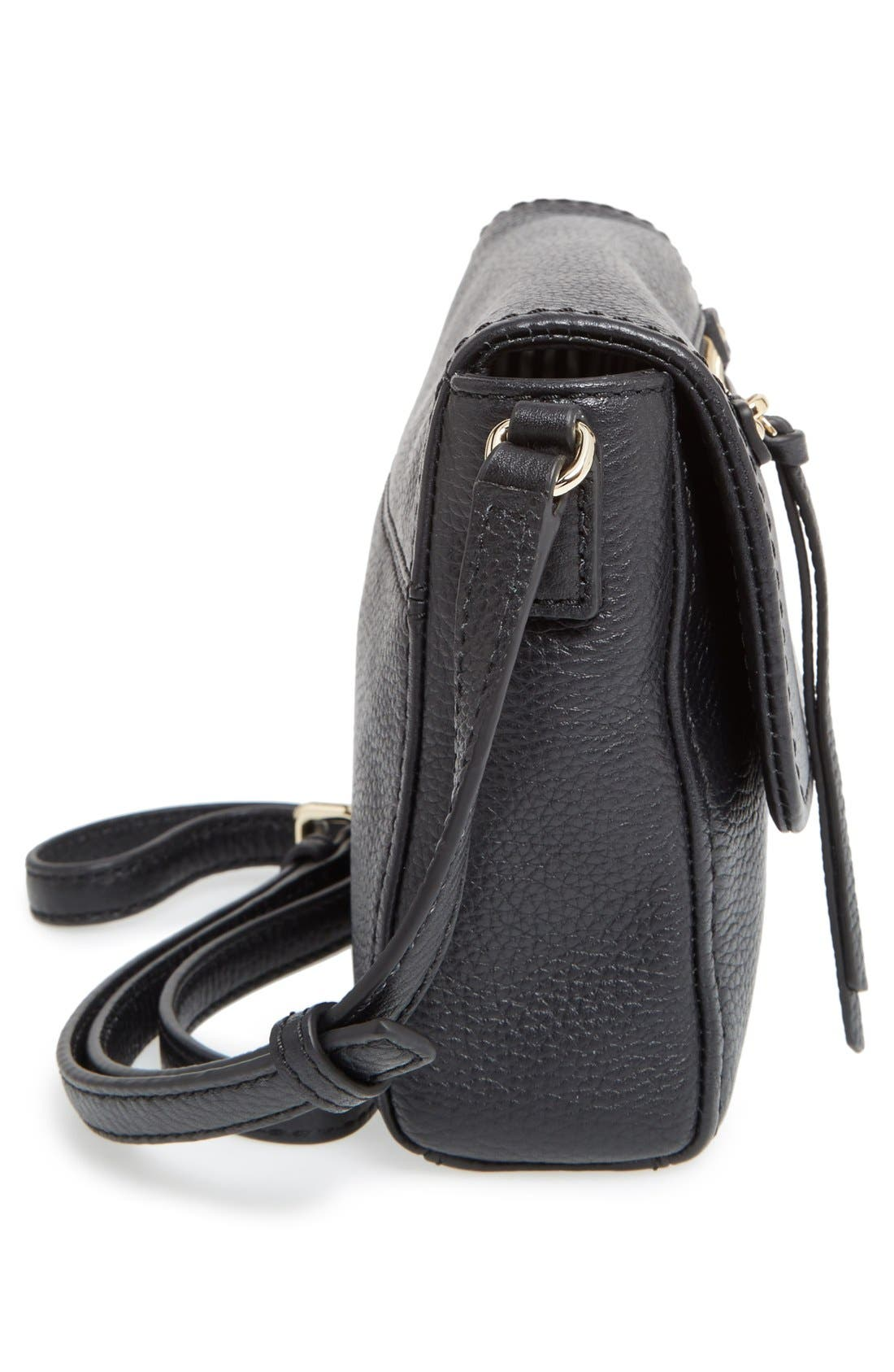 'cobble hill - mini toddy' leather crossbody bag,                             Alternate thumbnail 4, color,                             001