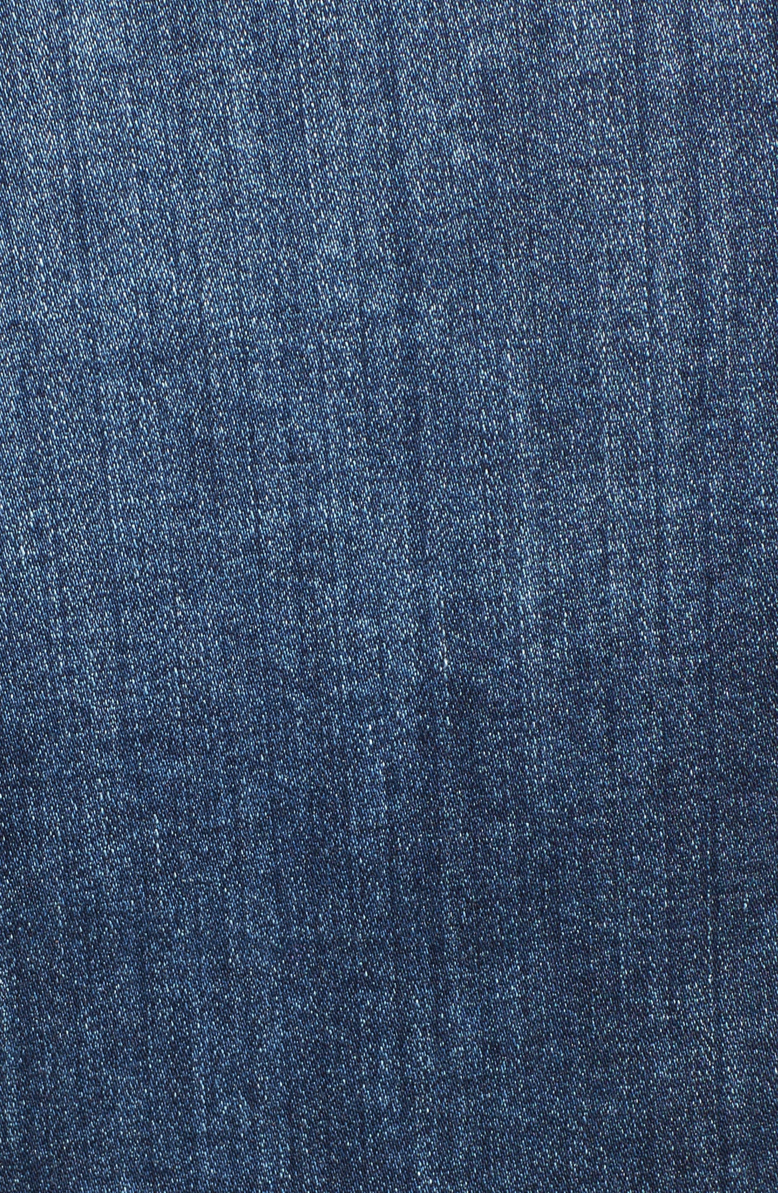 'Robyn' Denim Jacket,                             Alternate thumbnail 7, color,                             BLUE COVE