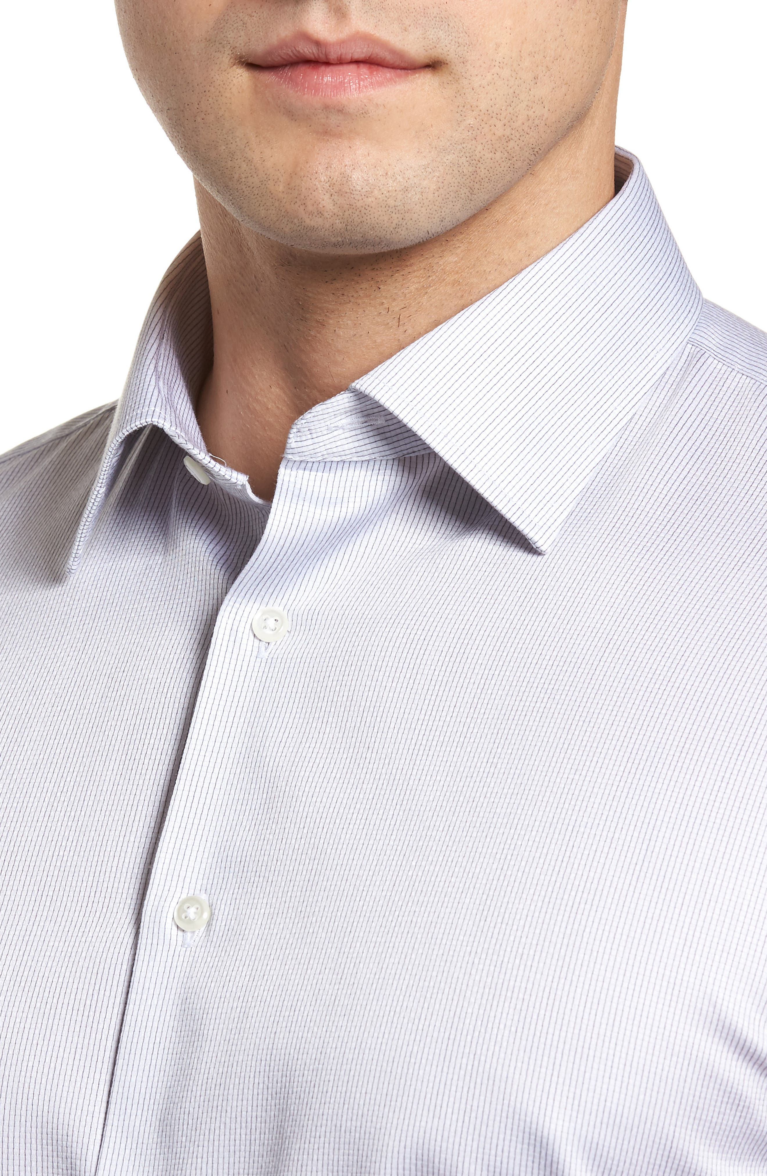 Traditional Fit Stripe Dress Shirt,                             Alternate thumbnail 2, color,                             050