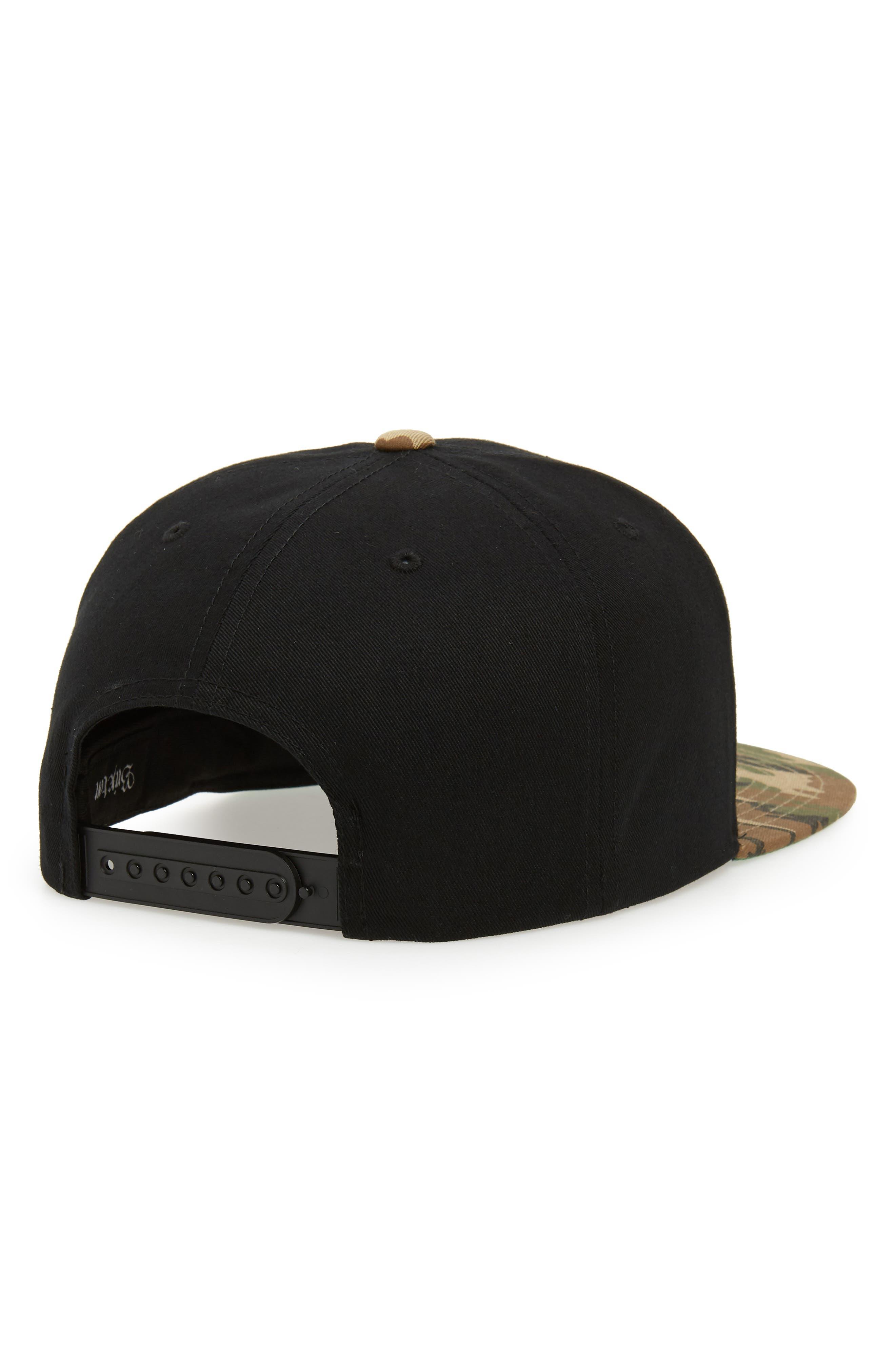 'Wheeler' Snapback Cap,                             Alternate thumbnail 2, color,                             BLACK/ CAMO