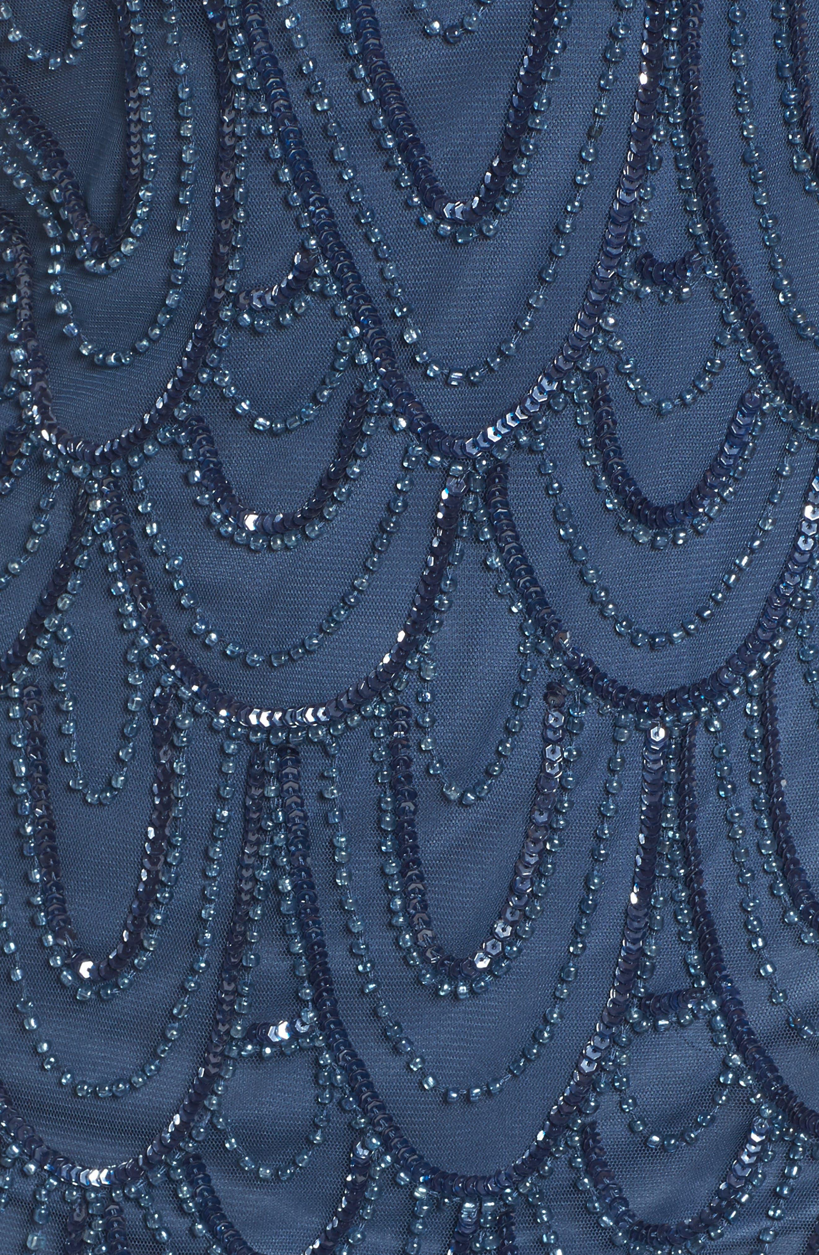 Embellished Mesh Sheath Dress,                             Alternate thumbnail 80, color,