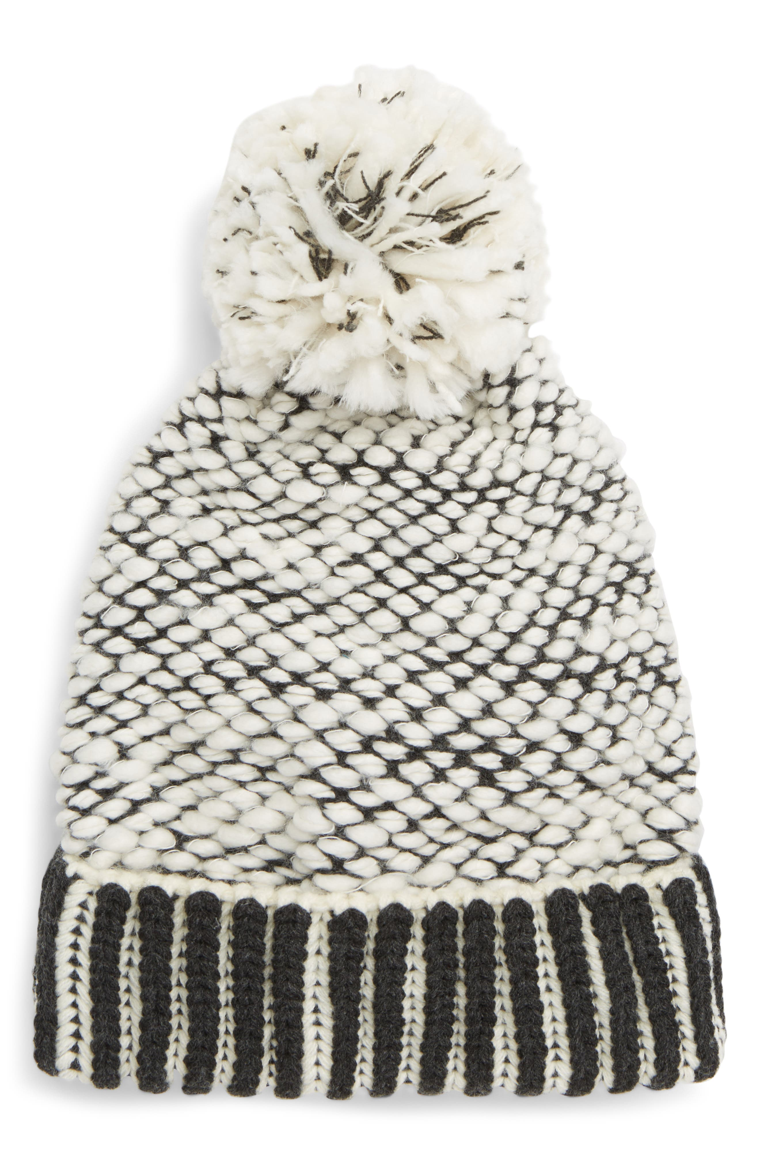 River Locks Pom Beanie,                             Main thumbnail 1, color,                             008
