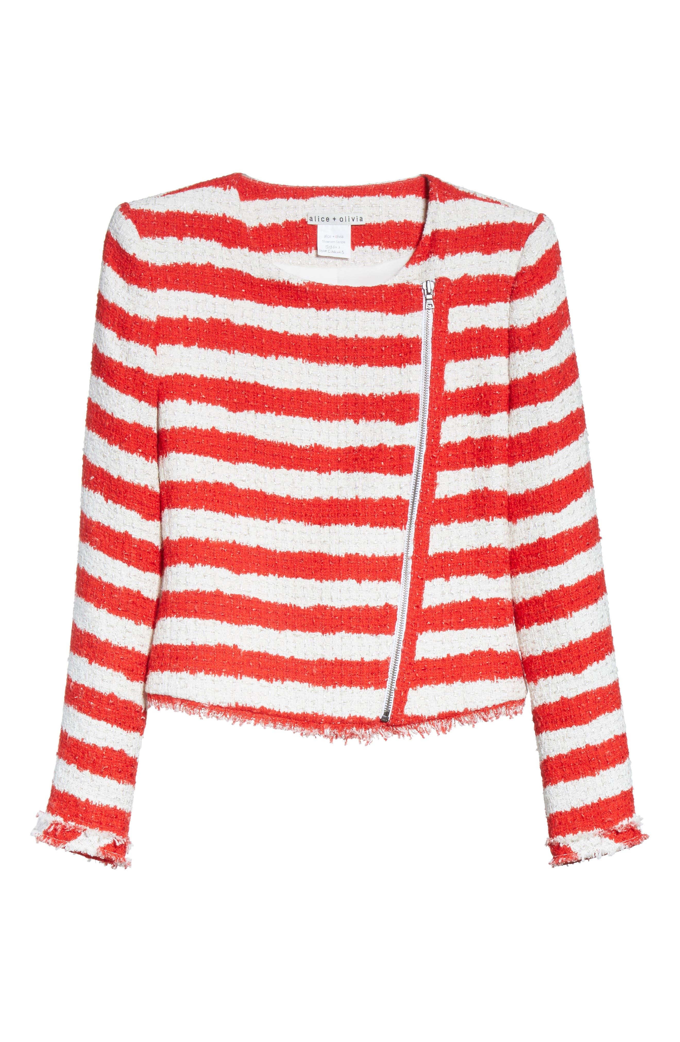 Stanton Stripe Tweed Jacket,                             Alternate thumbnail 5, color,