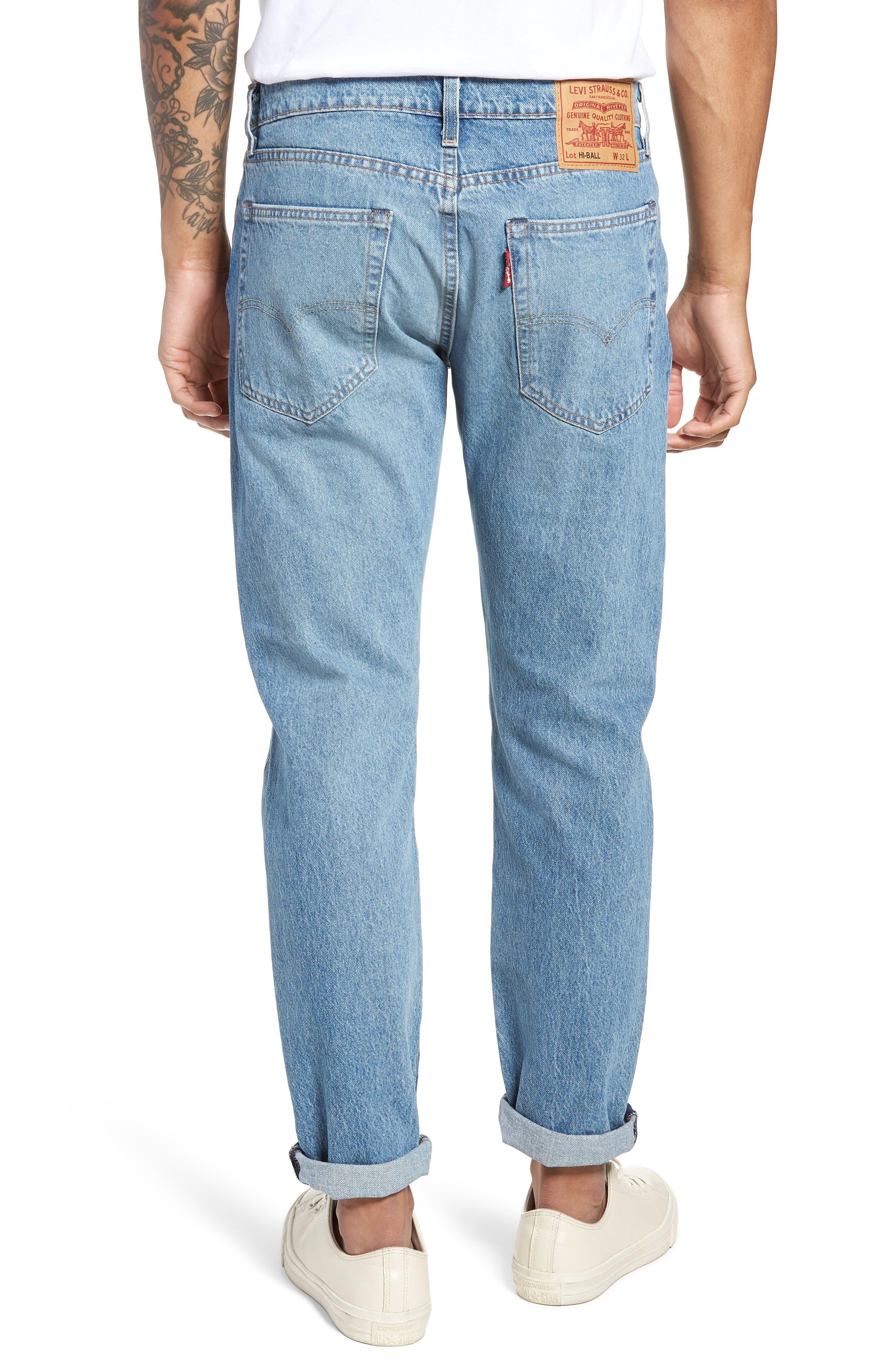 Hi-Ball Straight Leg Jeans,                             Alternate thumbnail 2, color,                             LIGHT BLUE