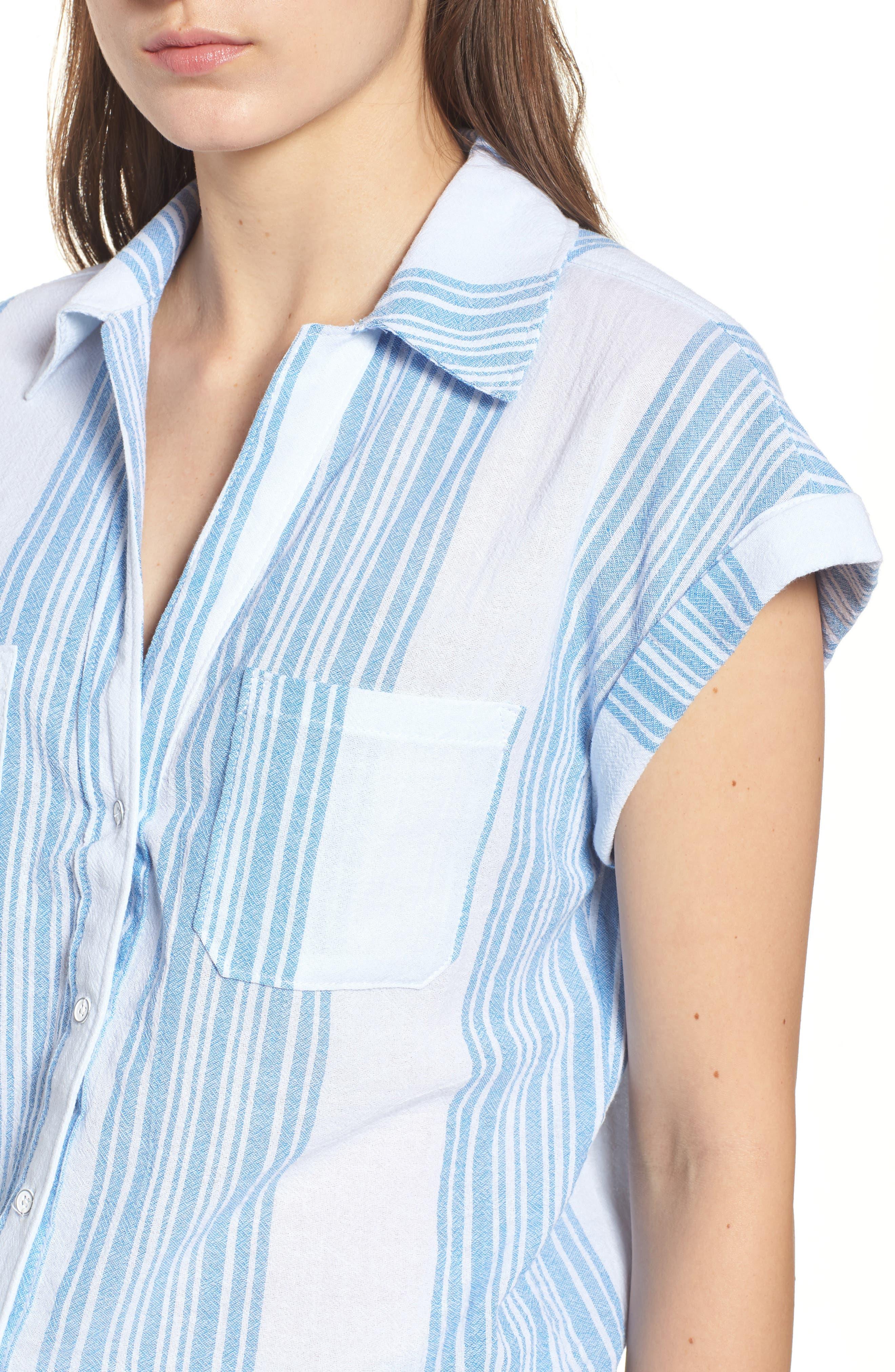 Stripe Camp Shirt,                             Alternate thumbnail 4, color,                             400