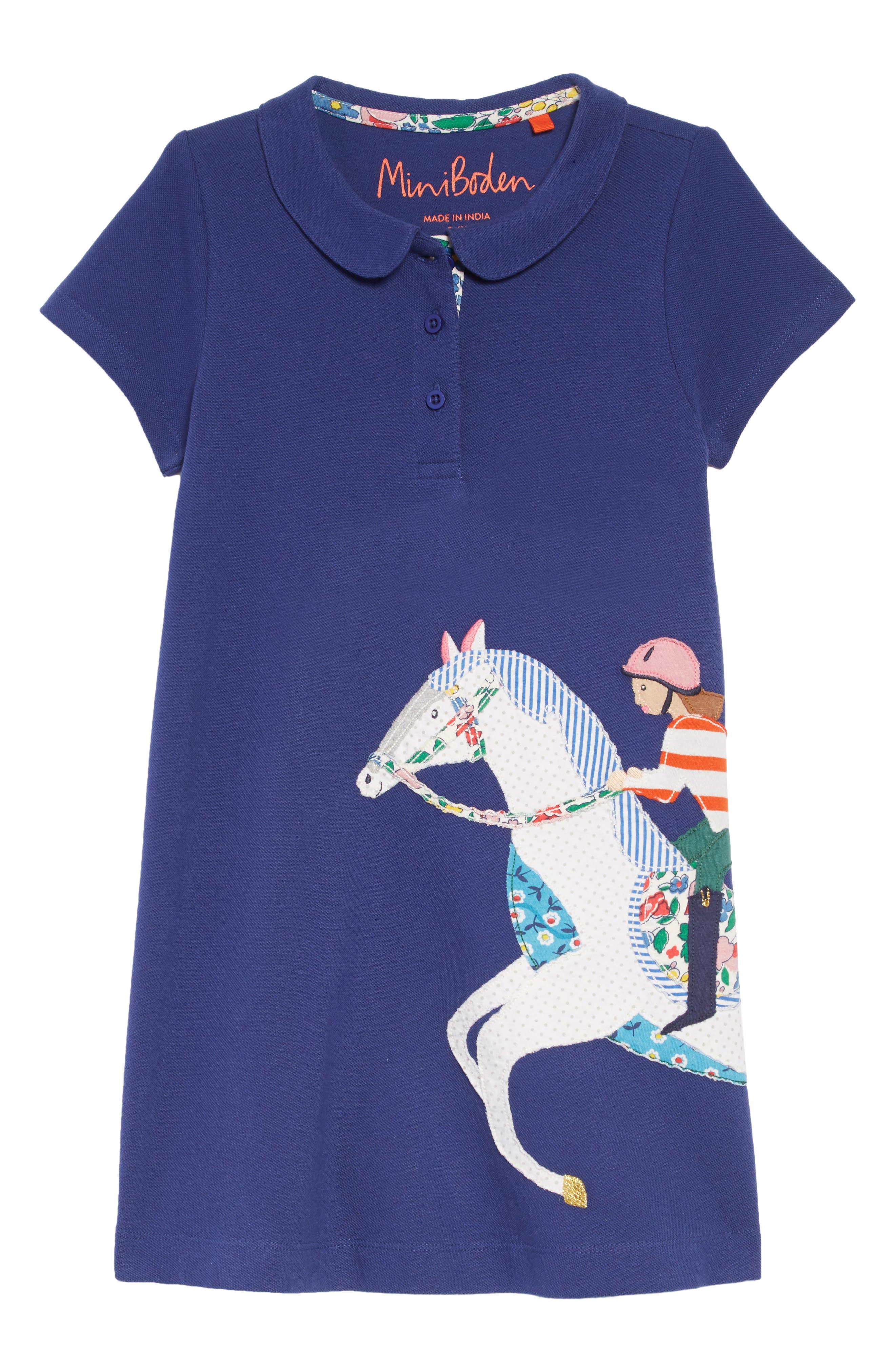 Appliqué Polo Dress,                         Main,                         color, 404