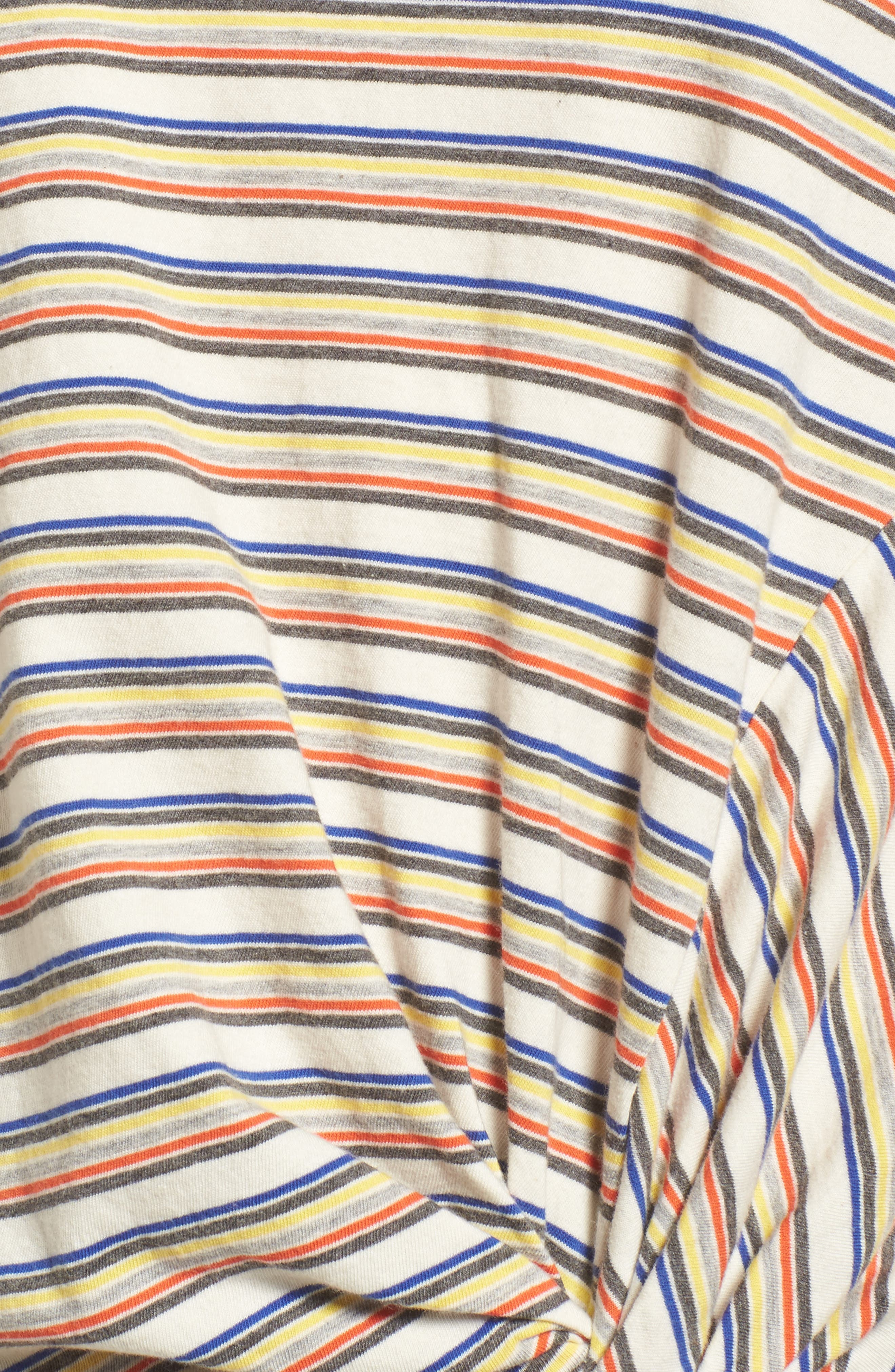 Stripe Twist Front Tee,                             Alternate thumbnail 5, color,