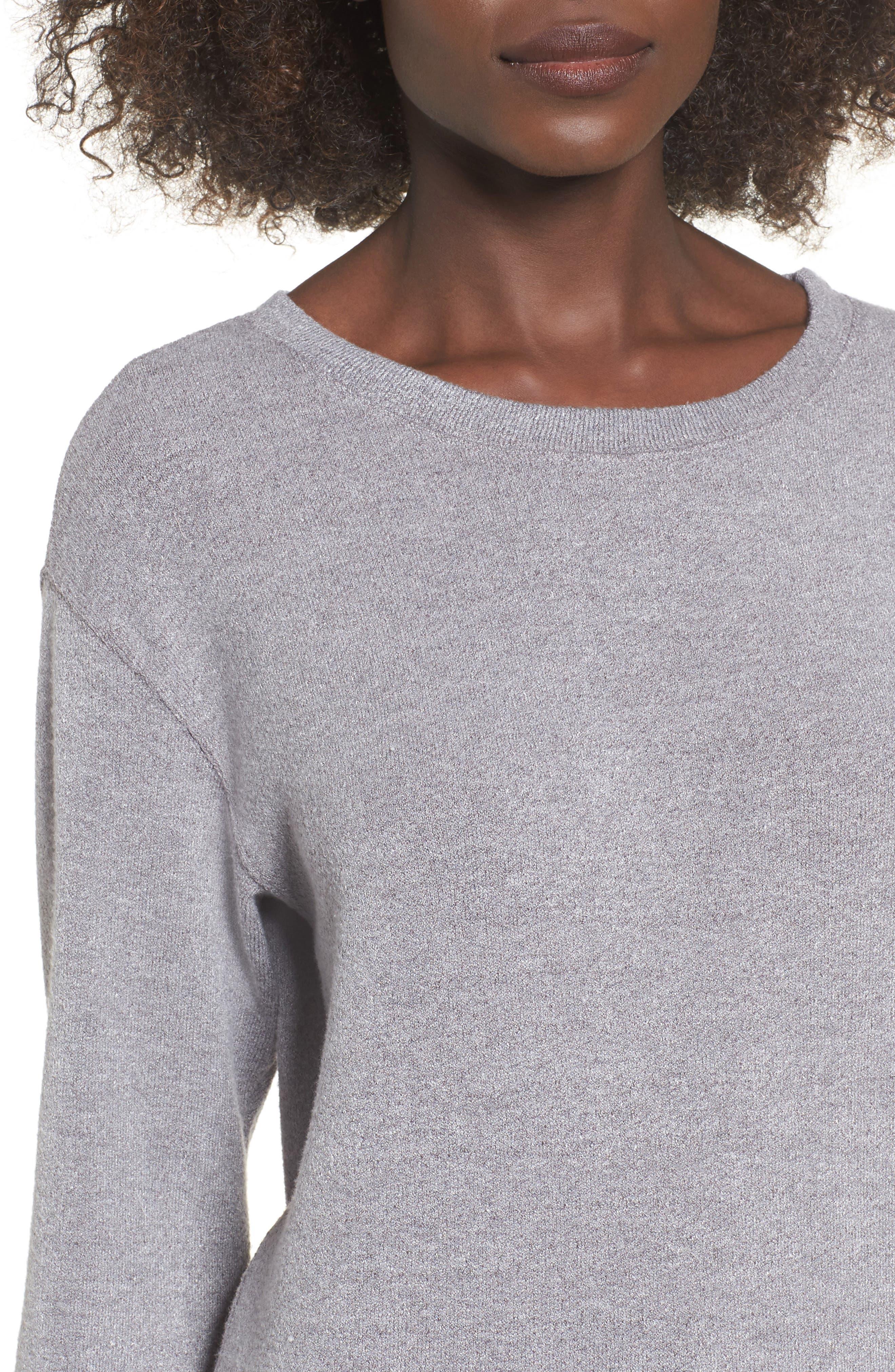 Phoebe Fleece Sweatshirt,                             Alternate thumbnail 8, color,