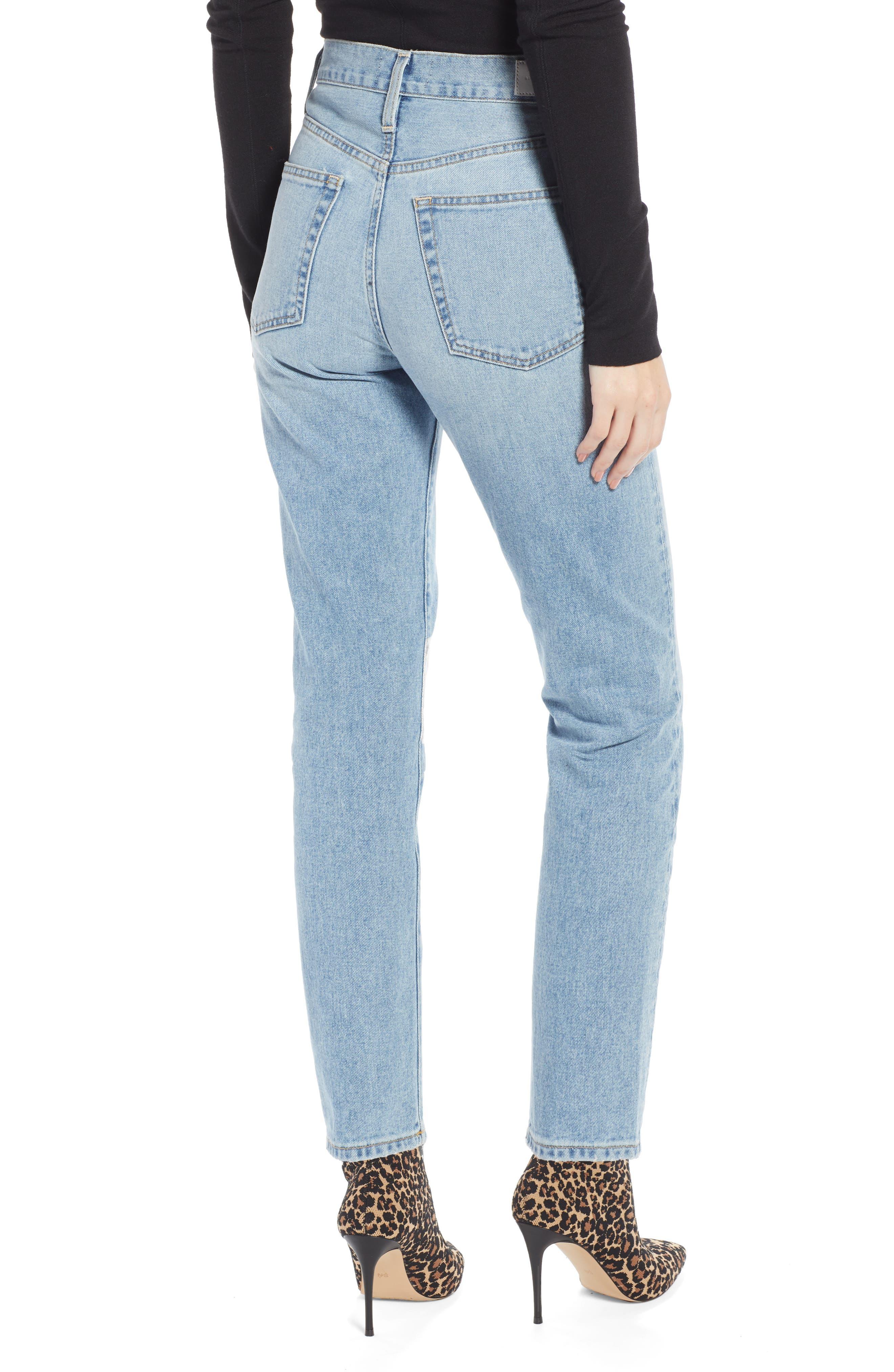 Ankle Cigarette Jeans,                             Alternate thumbnail 3, color,                             400