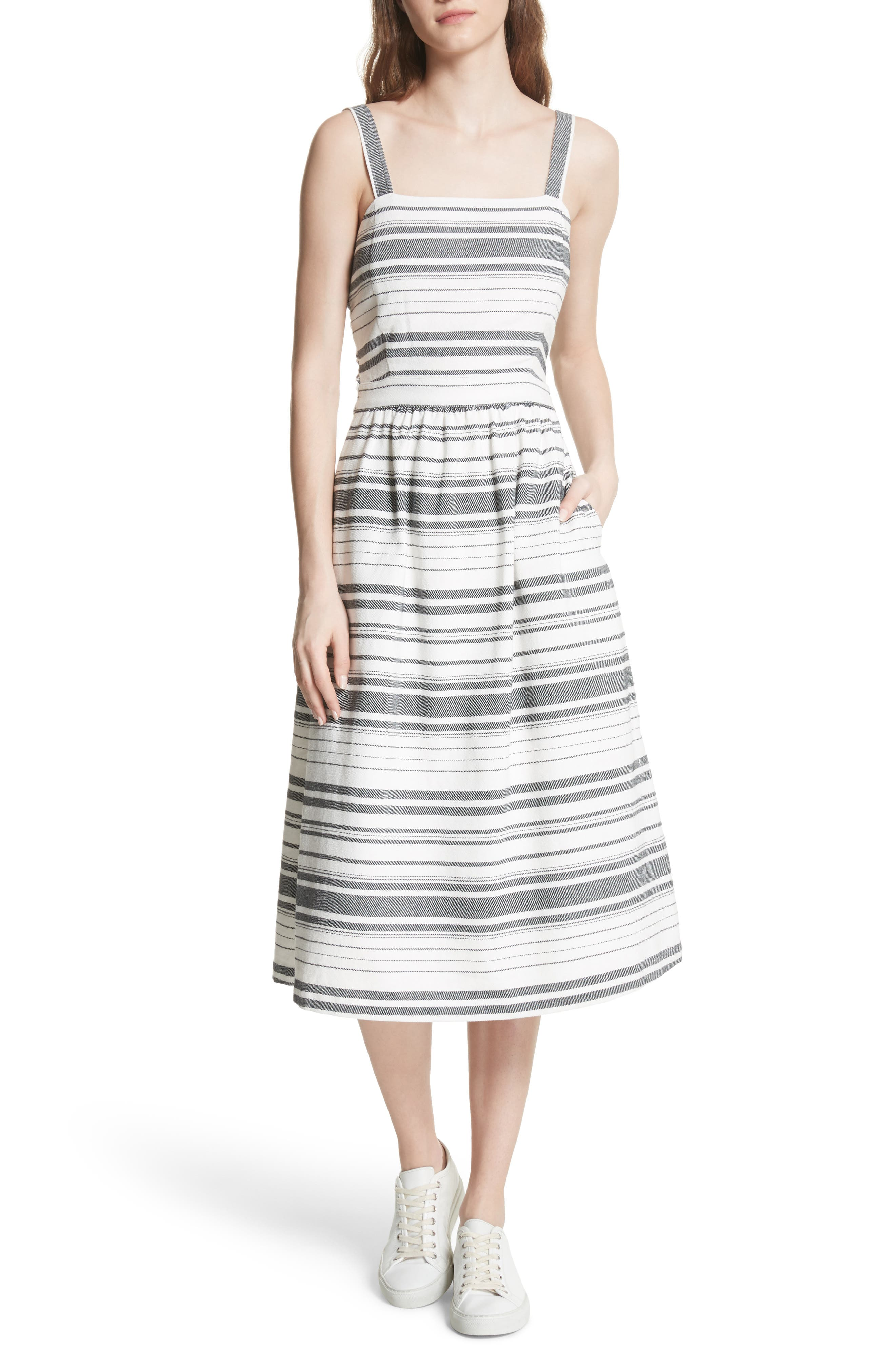 Cabeza Stripe Backless Cotton Sundress,                             Main thumbnail 1, color,                             102