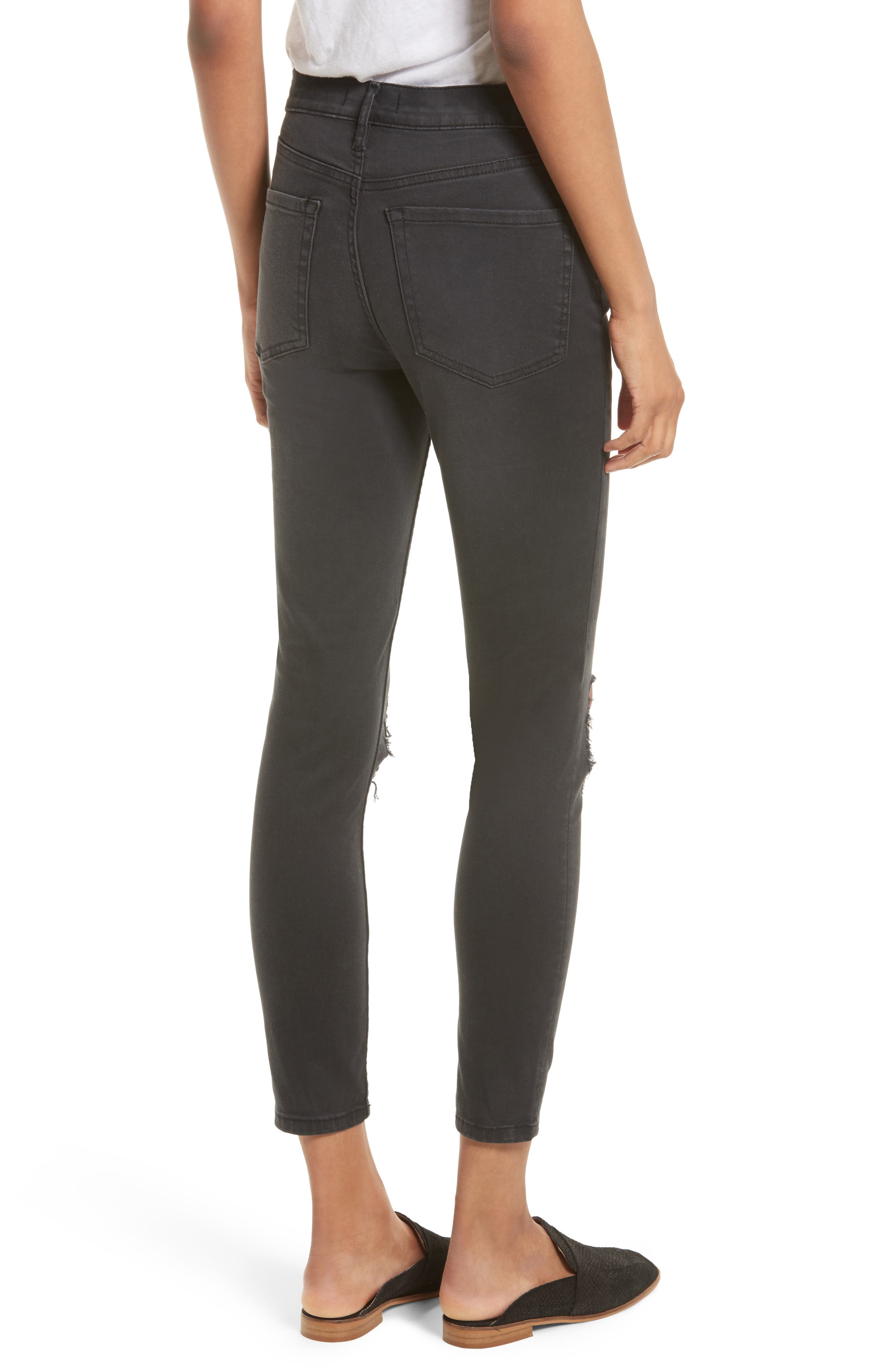 We the People by Free People High Rise Busted Knee Skinny Jeans,                             Alternate thumbnail 6, color,
