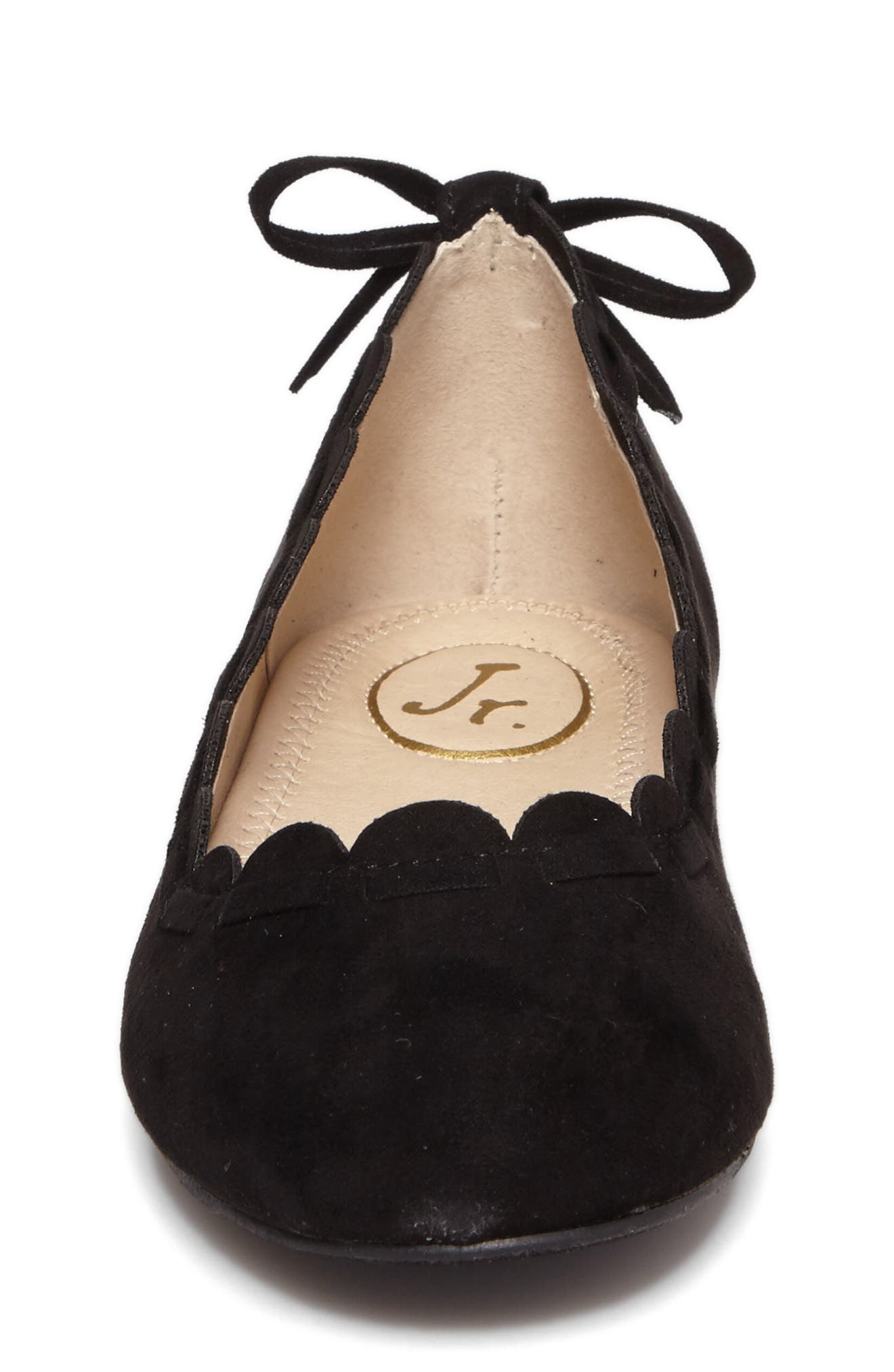 Miss Lucie Scalloped Ballet Flat,                             Alternate thumbnail 4, color,                             001