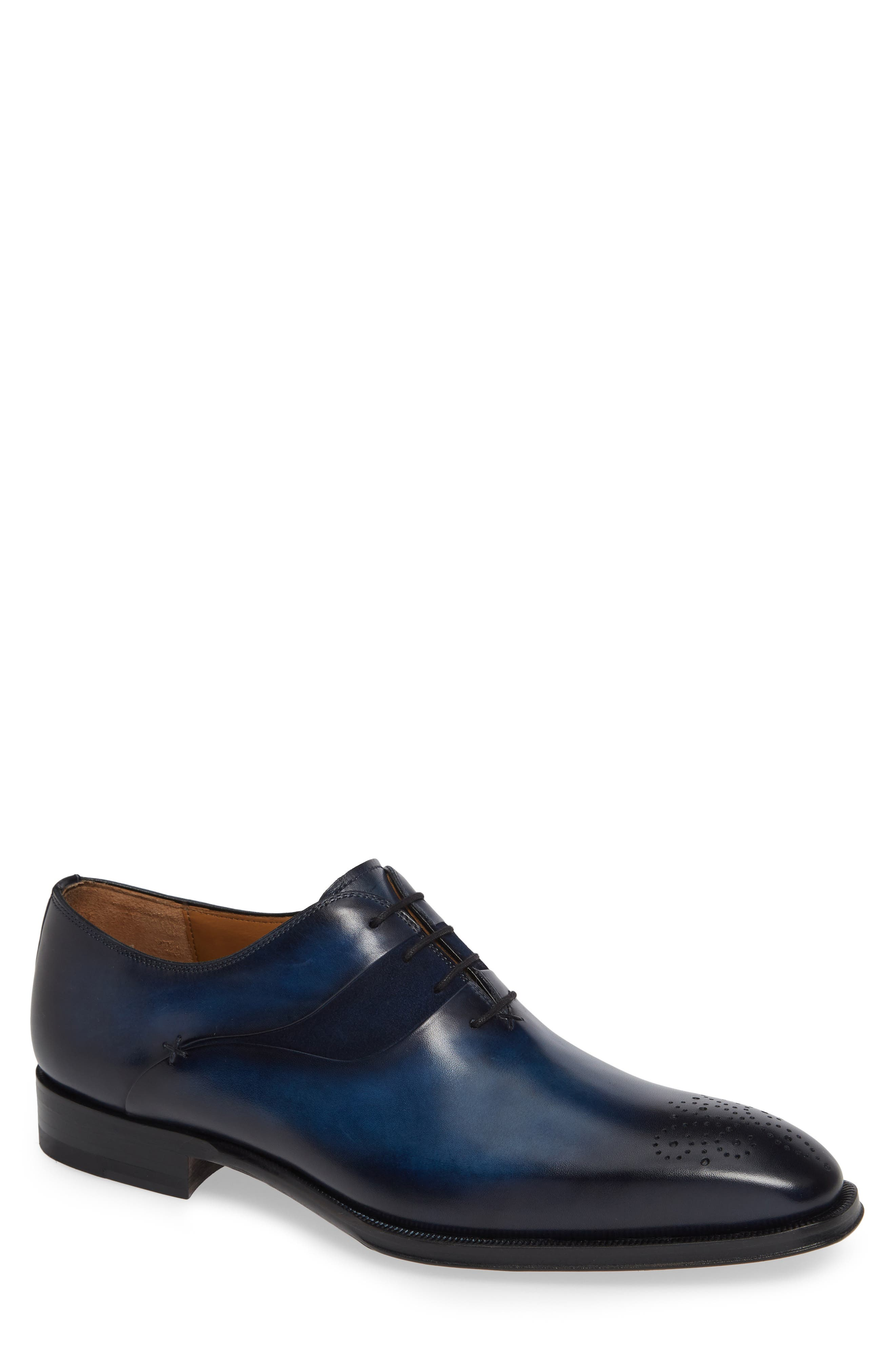 Hector Plain Toe Oxford,                             Main thumbnail 1, color,                             NAVY LEATHER