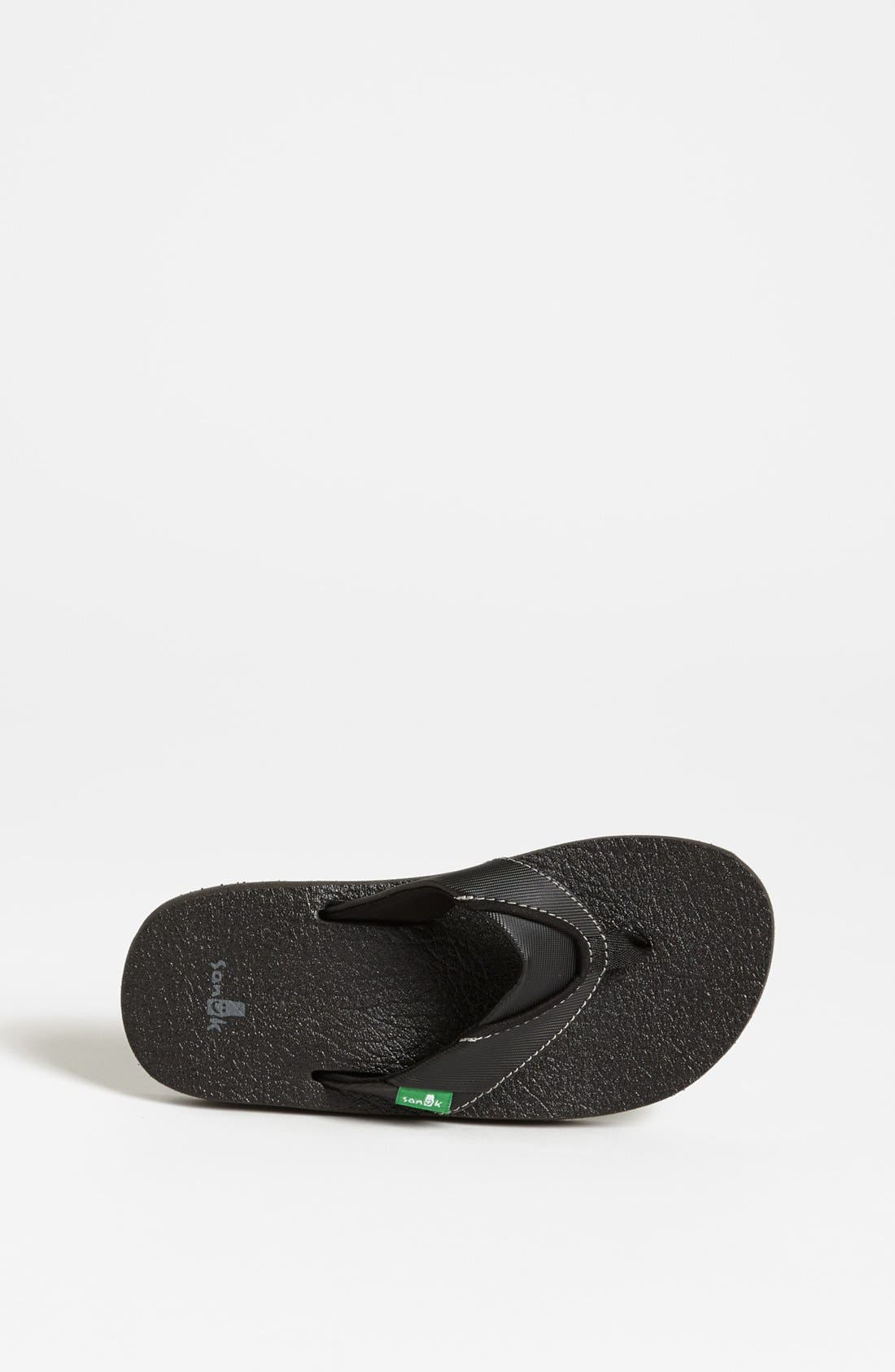'Root Beer' Sandal,                             Alternate thumbnail 4, color,                             BLACK