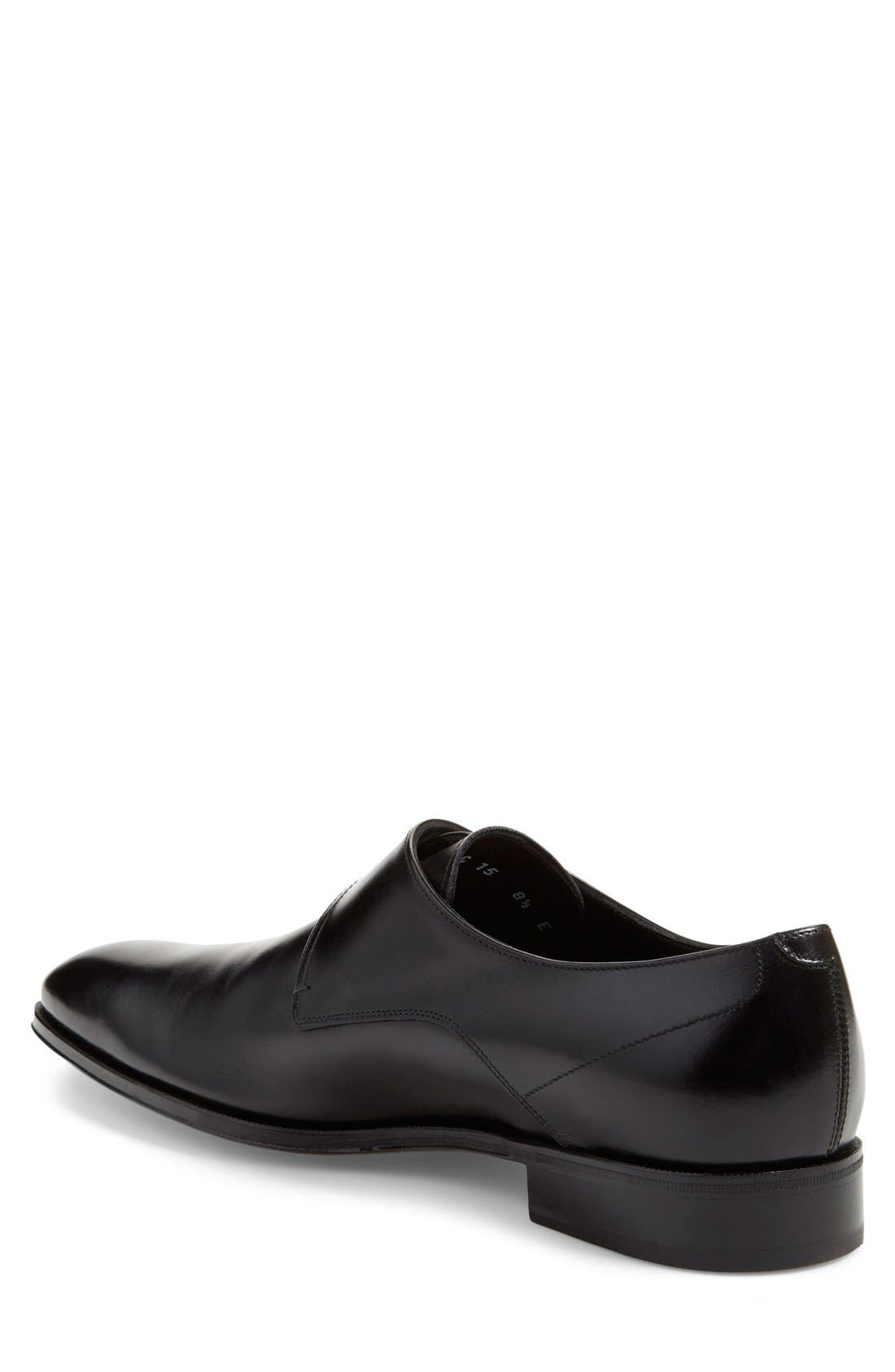 Single Monk Strap Shoe,                             Alternate thumbnail 4, color,                             001