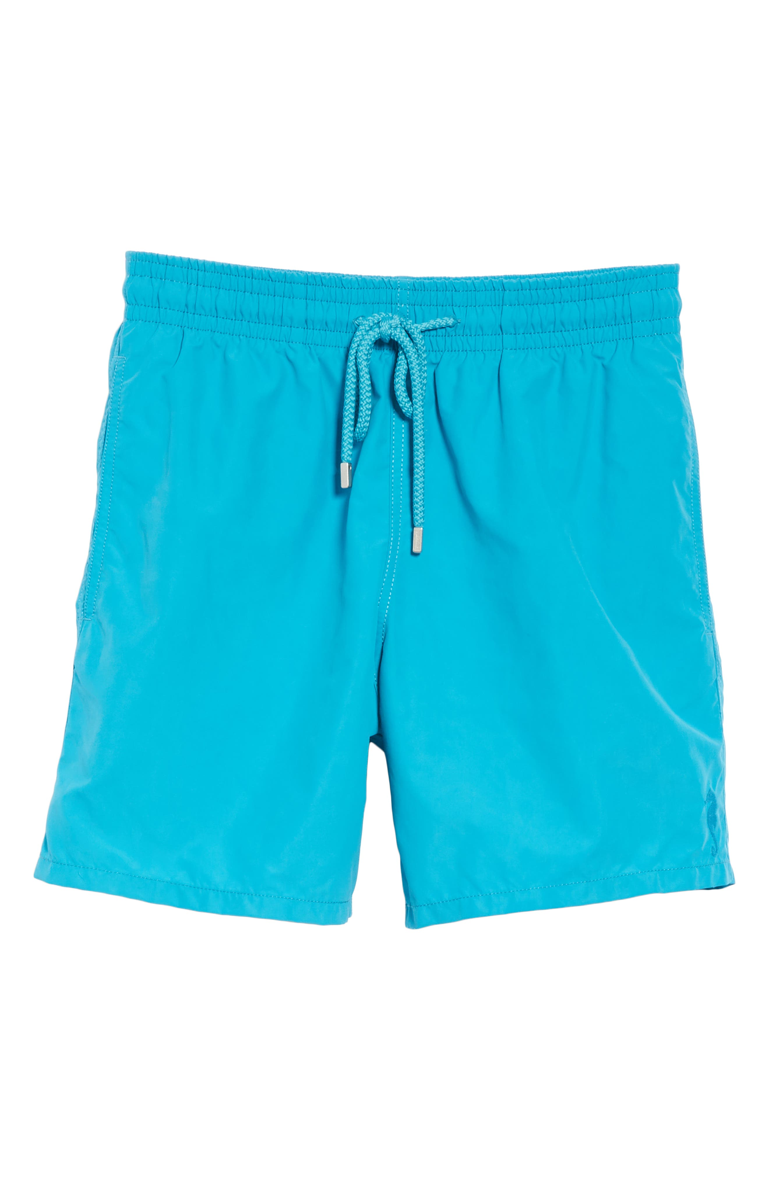 Moorea Double Focus Water-Reactive Swim Trunks,                             Alternate thumbnail 6, color,                             BLUE