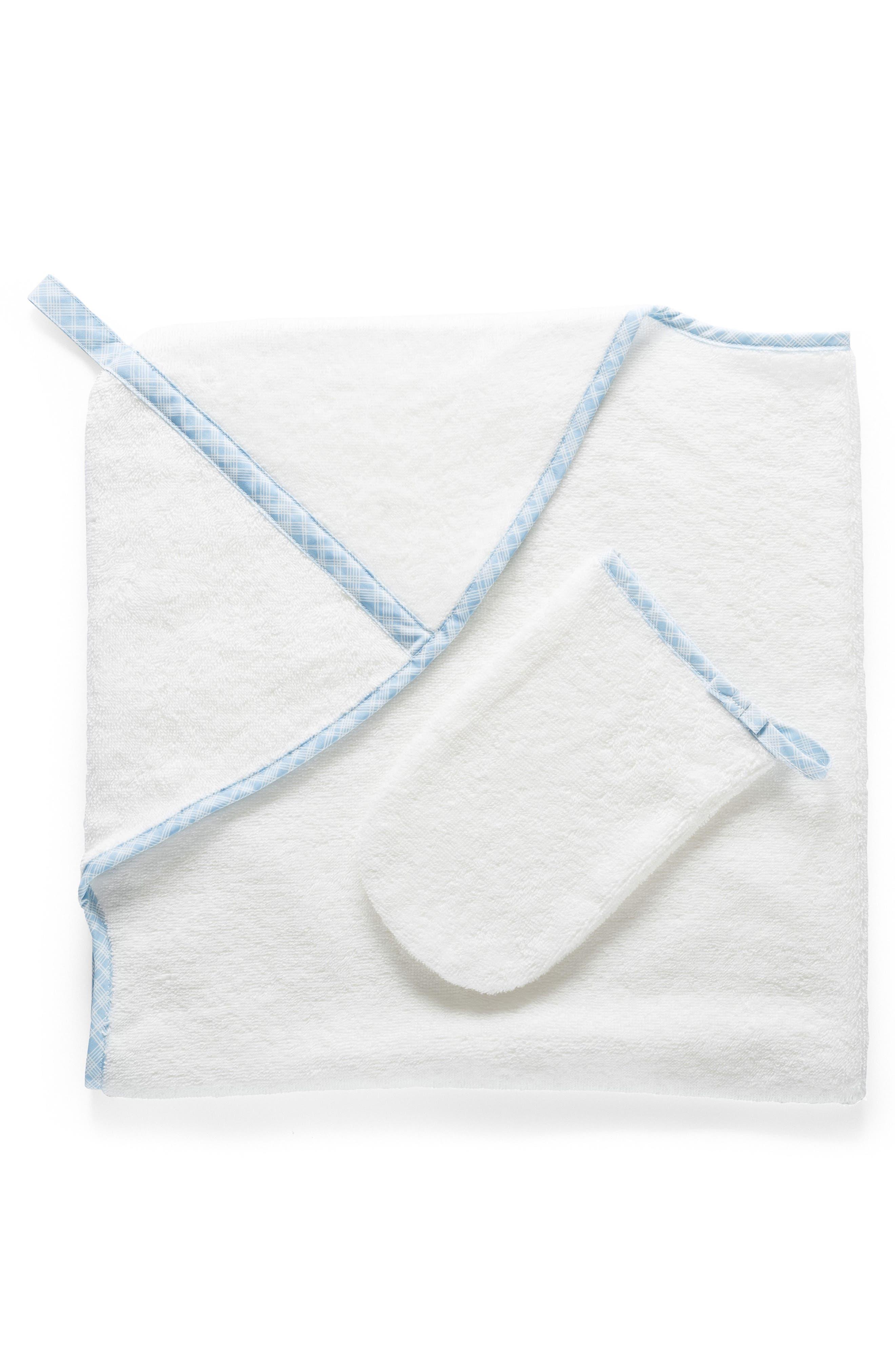 Hooded Towel & Bath Mitt Set,                         Main,                         color,