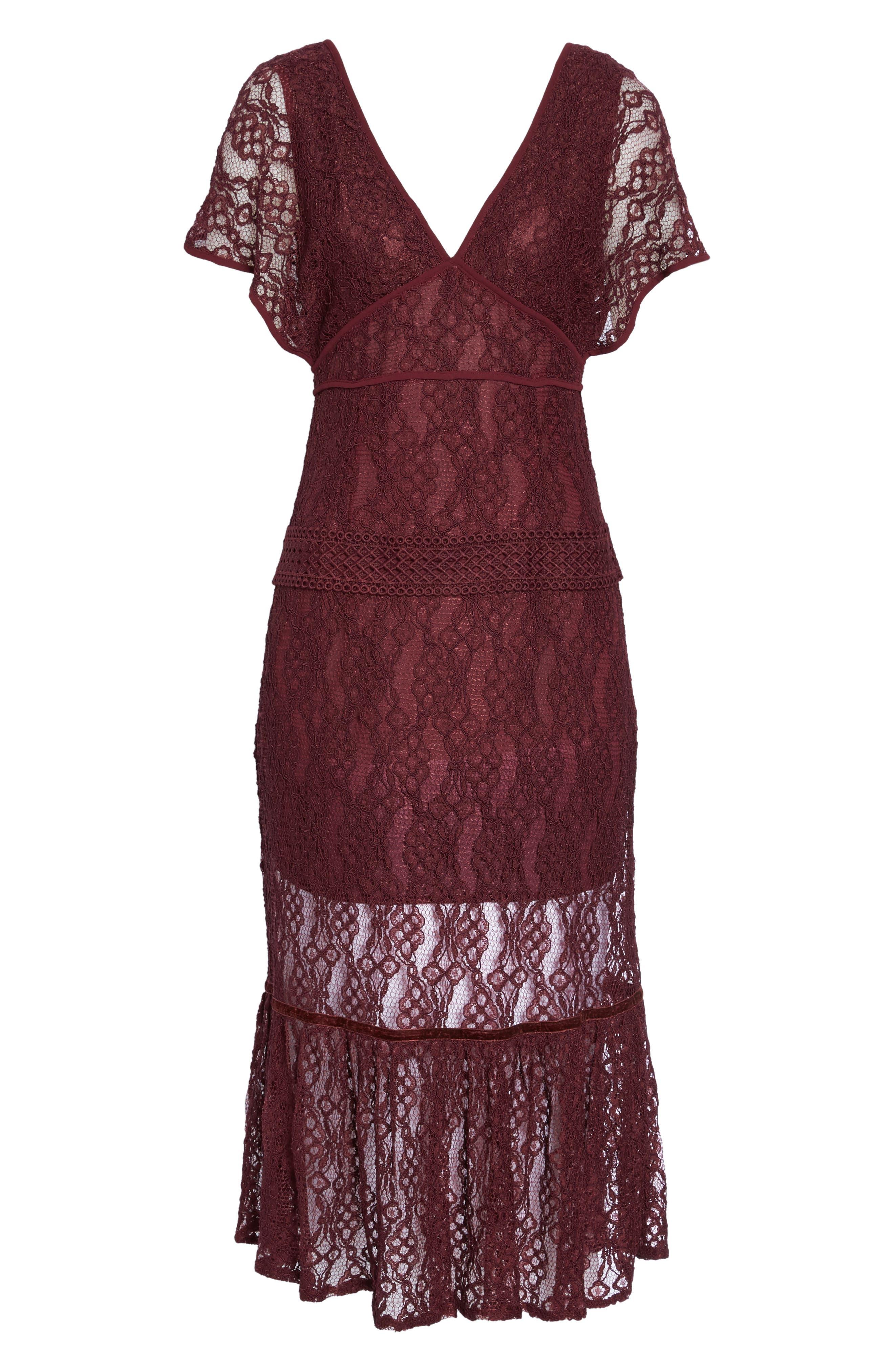 Cecila Lace Midi Dress,                             Alternate thumbnail 6, color,