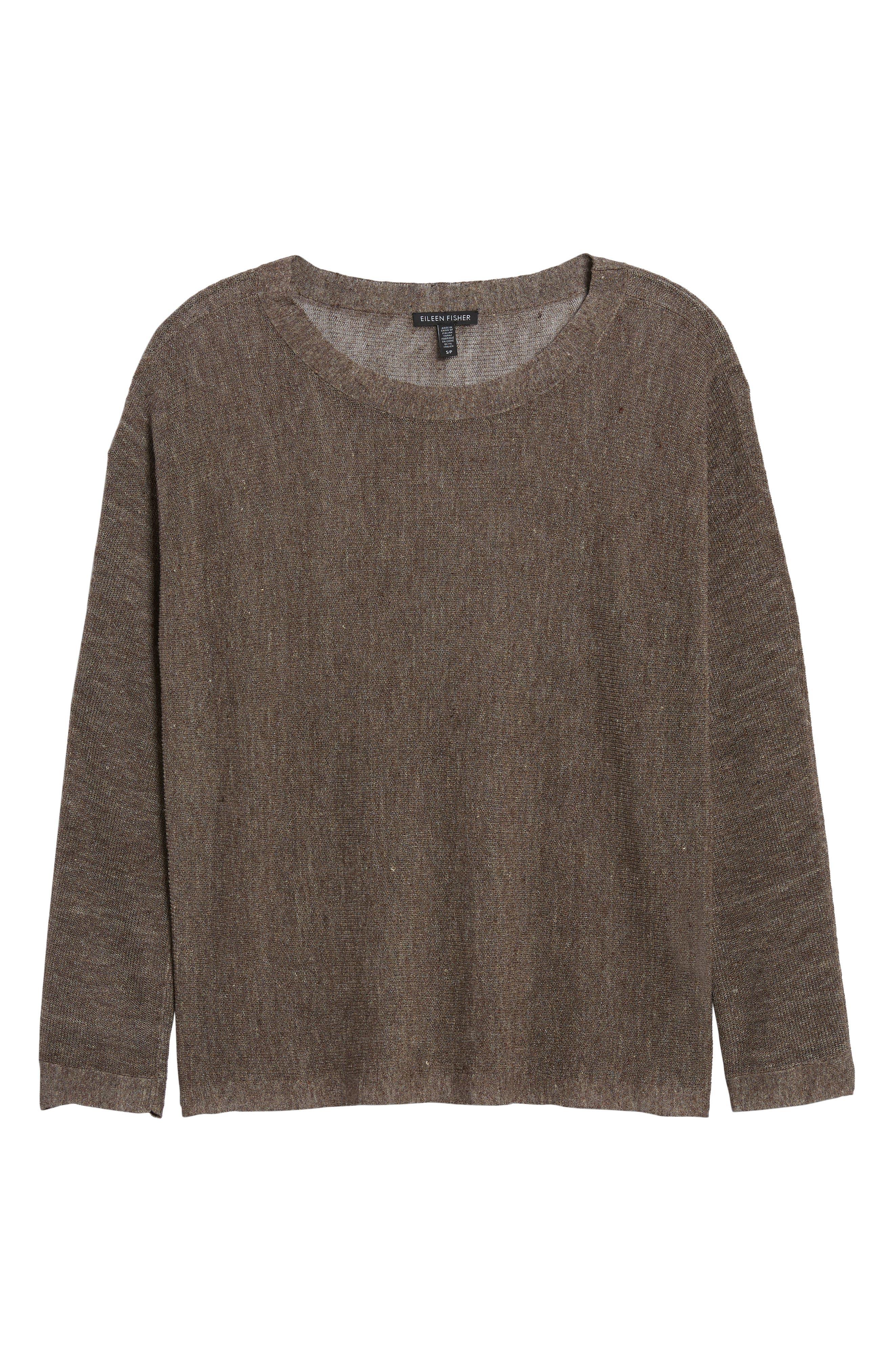 Linen Blend Sweater,                             Alternate thumbnail 7, color,                             024