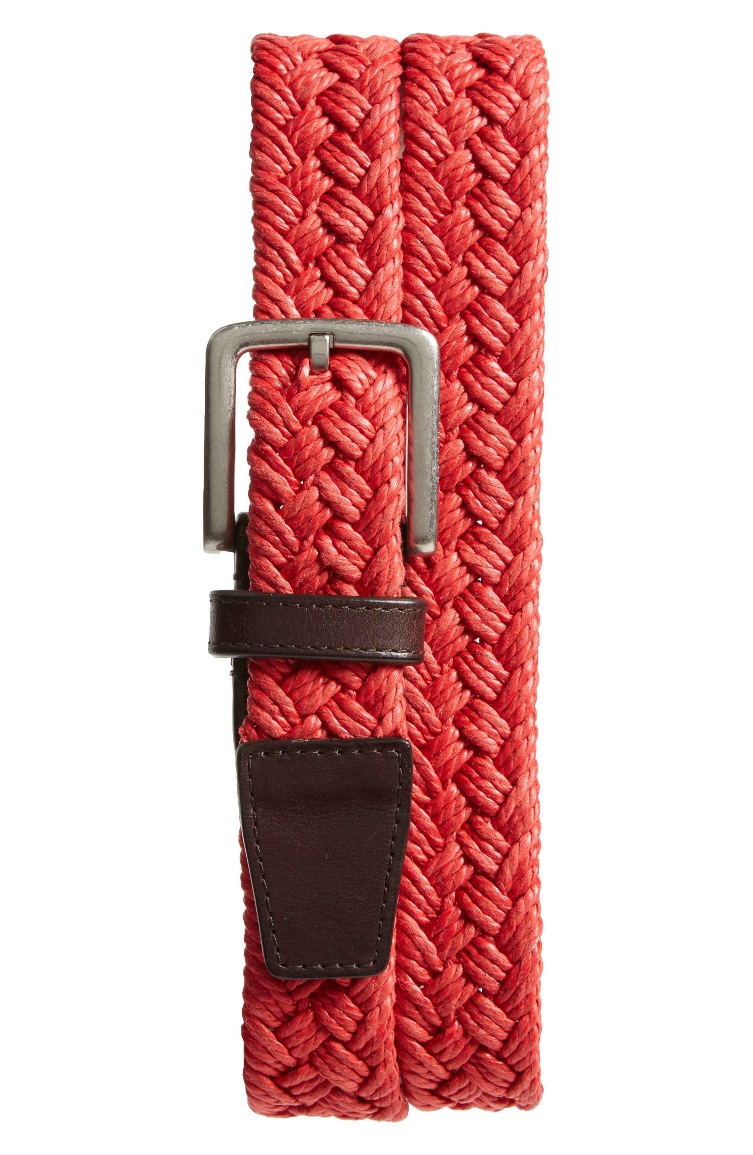 Woven Belt,                         Main,                         color, AURA ORANGE