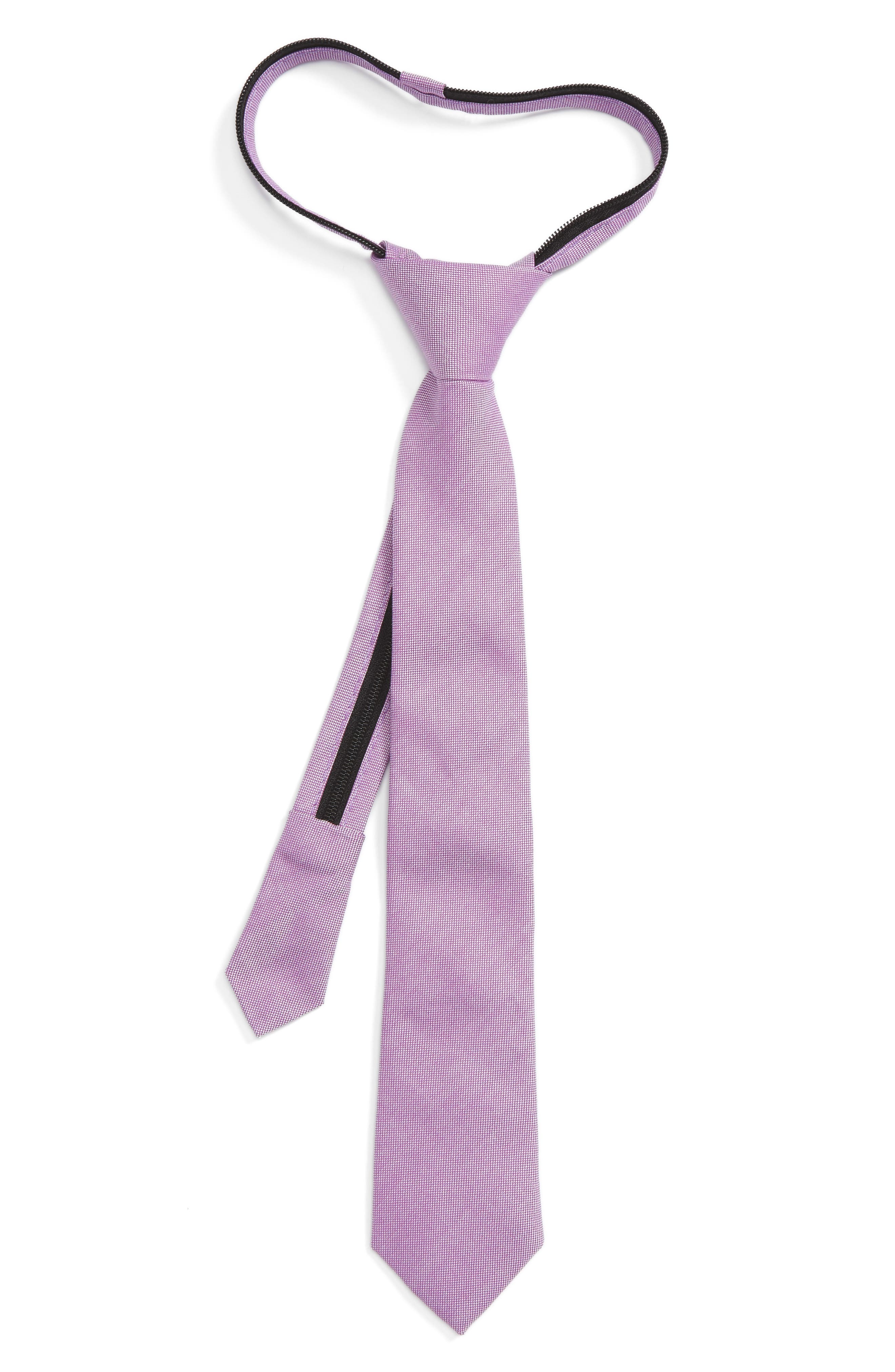 Solid Cotton Zipper Tie,                             Main thumbnail 5, color,