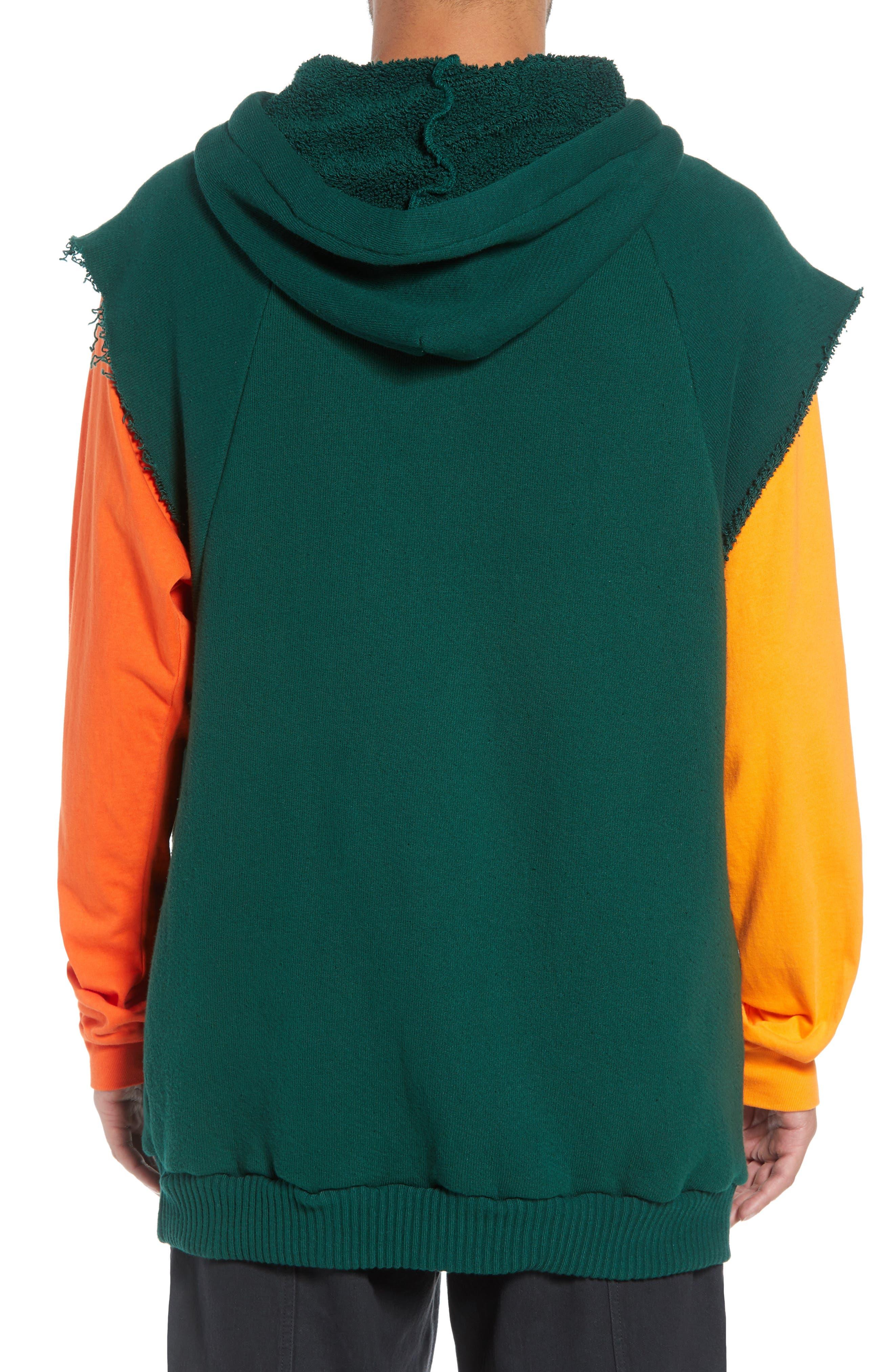 Warwick Quarter-Zip Hoodie Sweatshirt,                             Alternate thumbnail 2, color,                             HUNTER GREEN