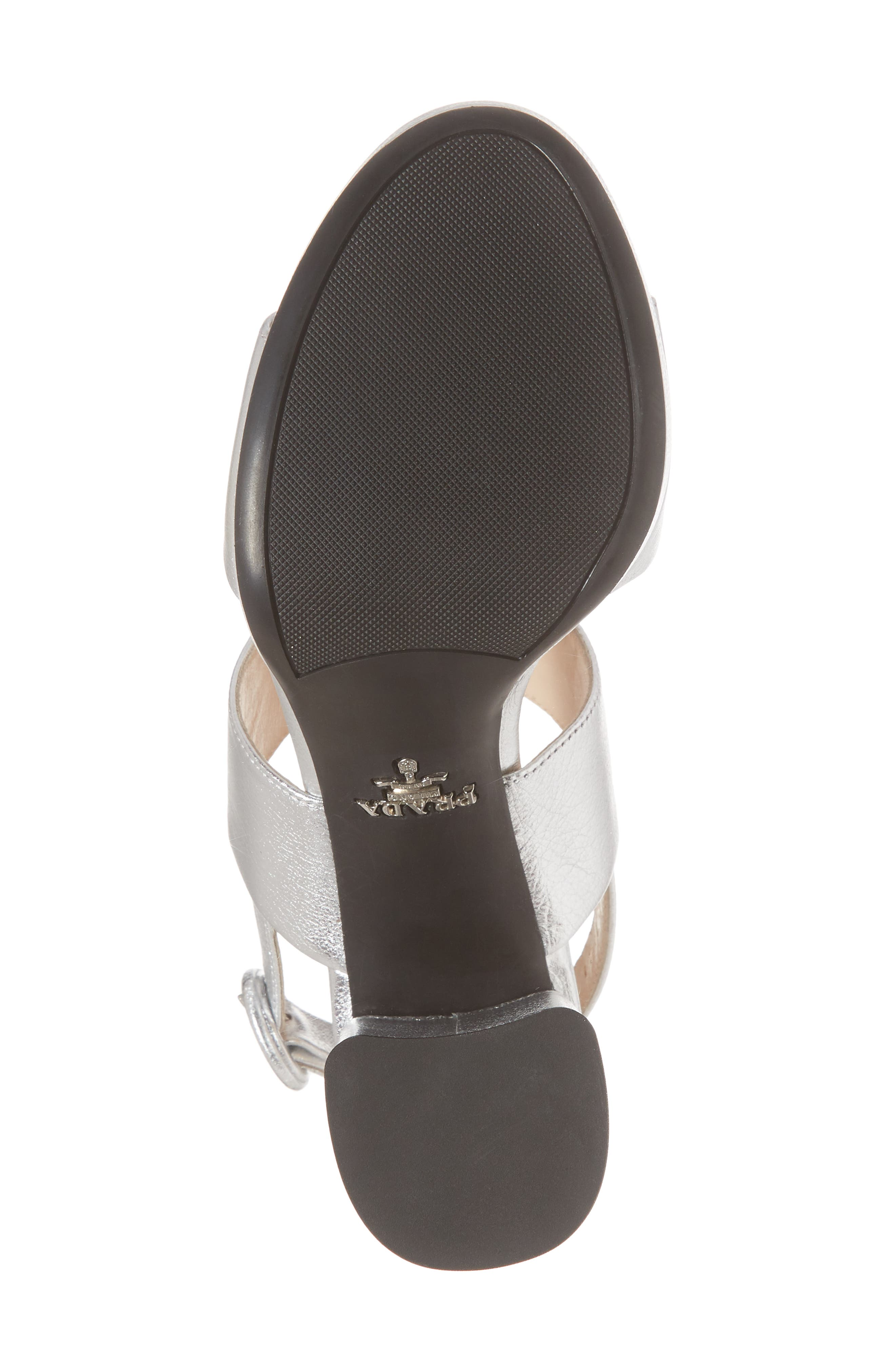 Double Band Platform Sandal,                             Alternate thumbnail 6, color,                             SILVER