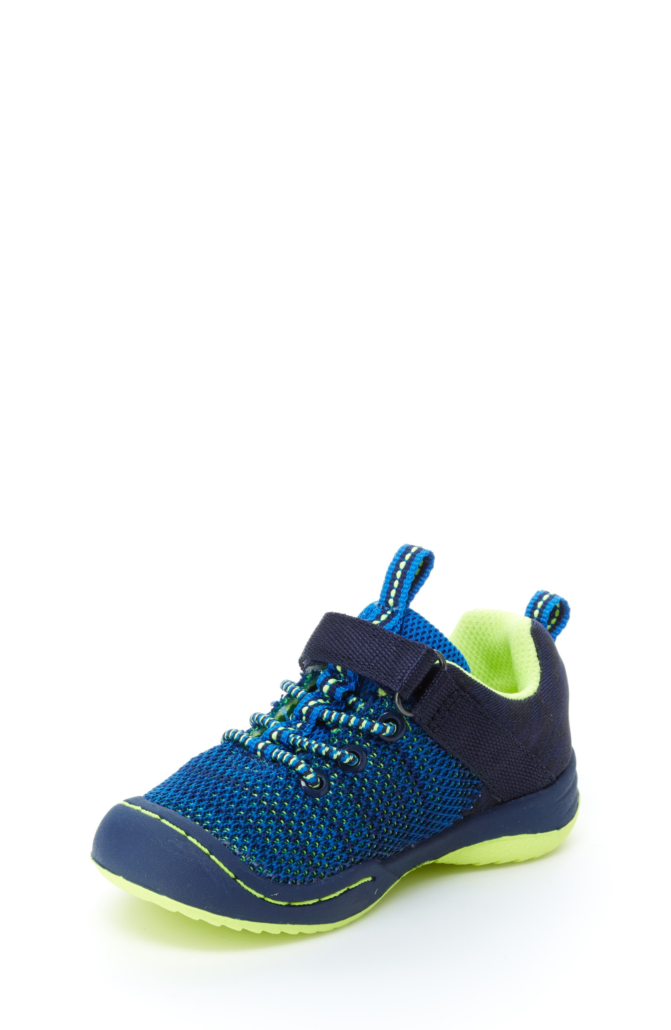 Talon Knit Sneaker,                             Alternate thumbnail 8, color,                             NAVY TEXTILE