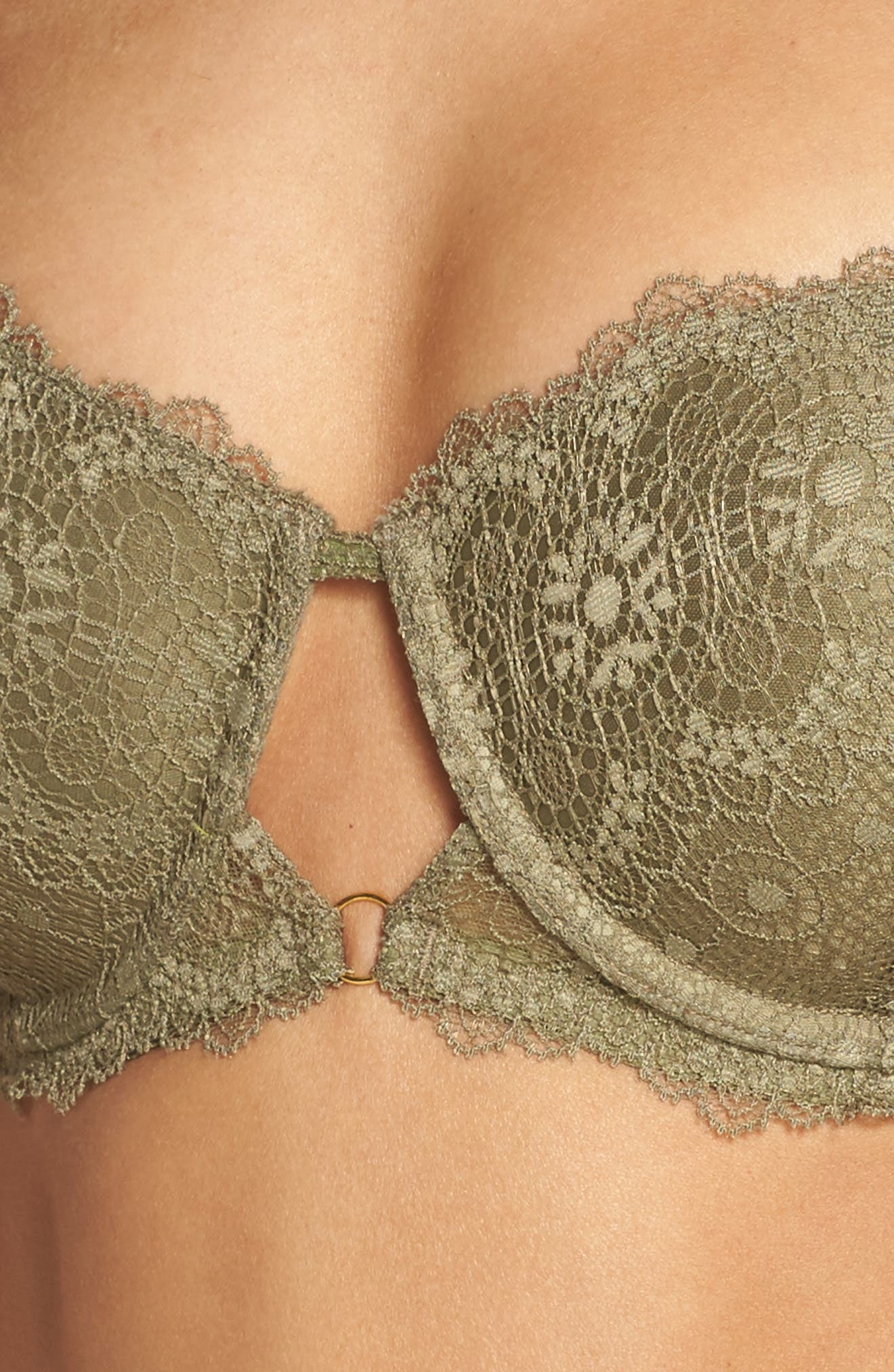 Strapless Underwire Lace Bra,                             Alternate thumbnail 5, color,                             331
