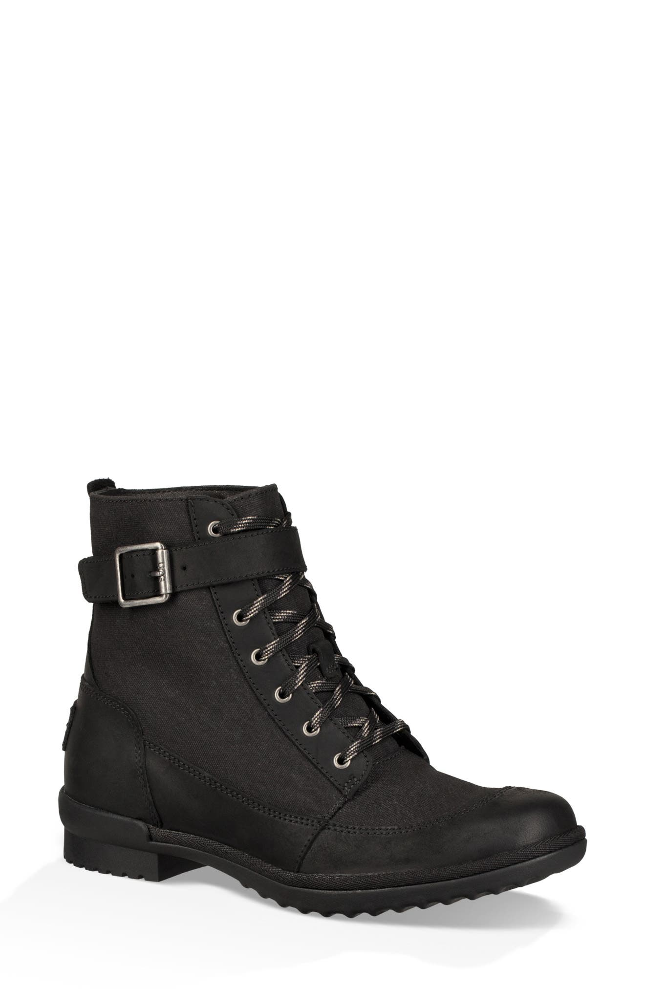 Tulane Waterproof Boot,                         Main,                         color, BLACK LEATHER