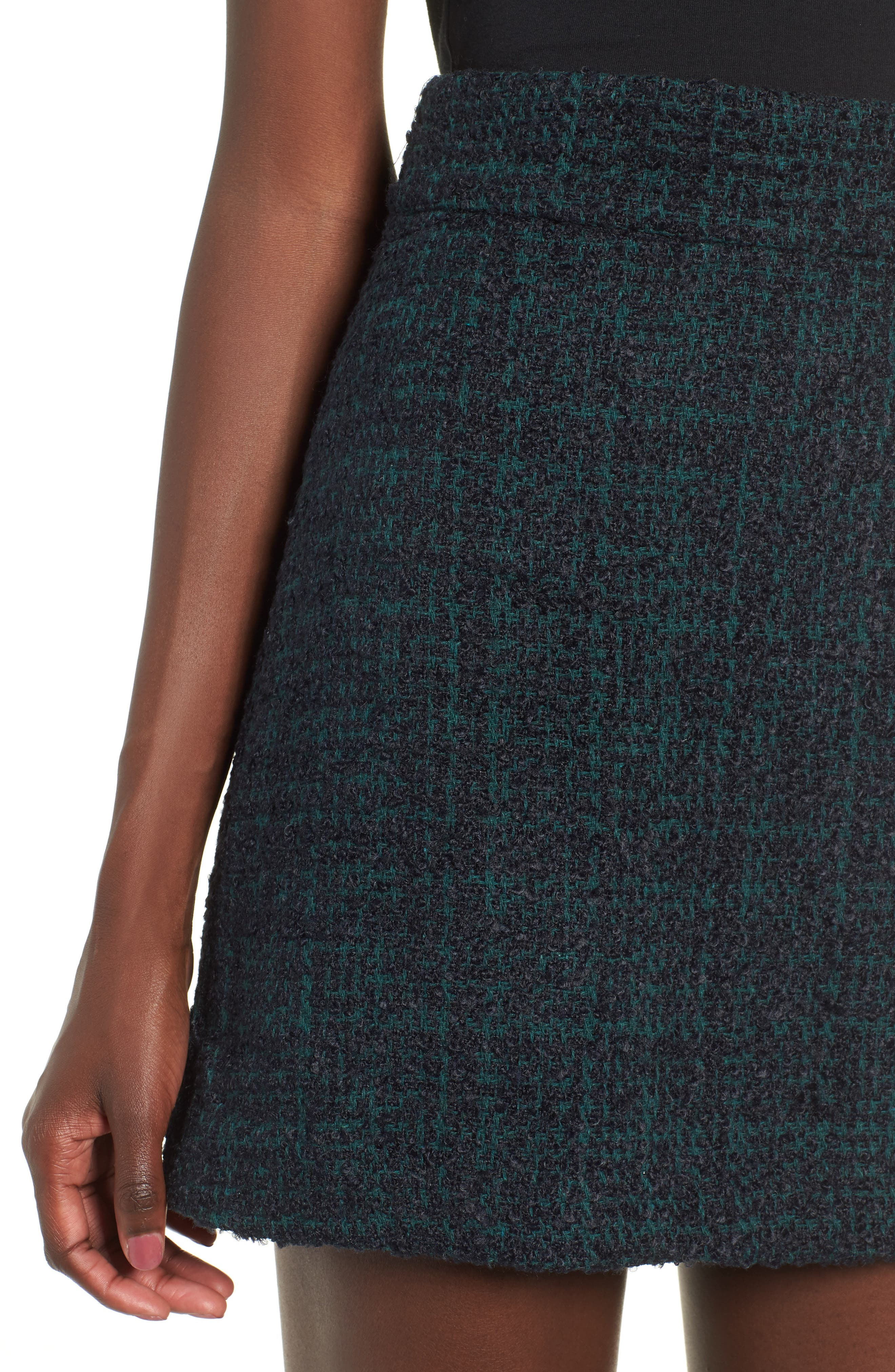 Tweed Miniskirt,                             Alternate thumbnail 4, color,                             021