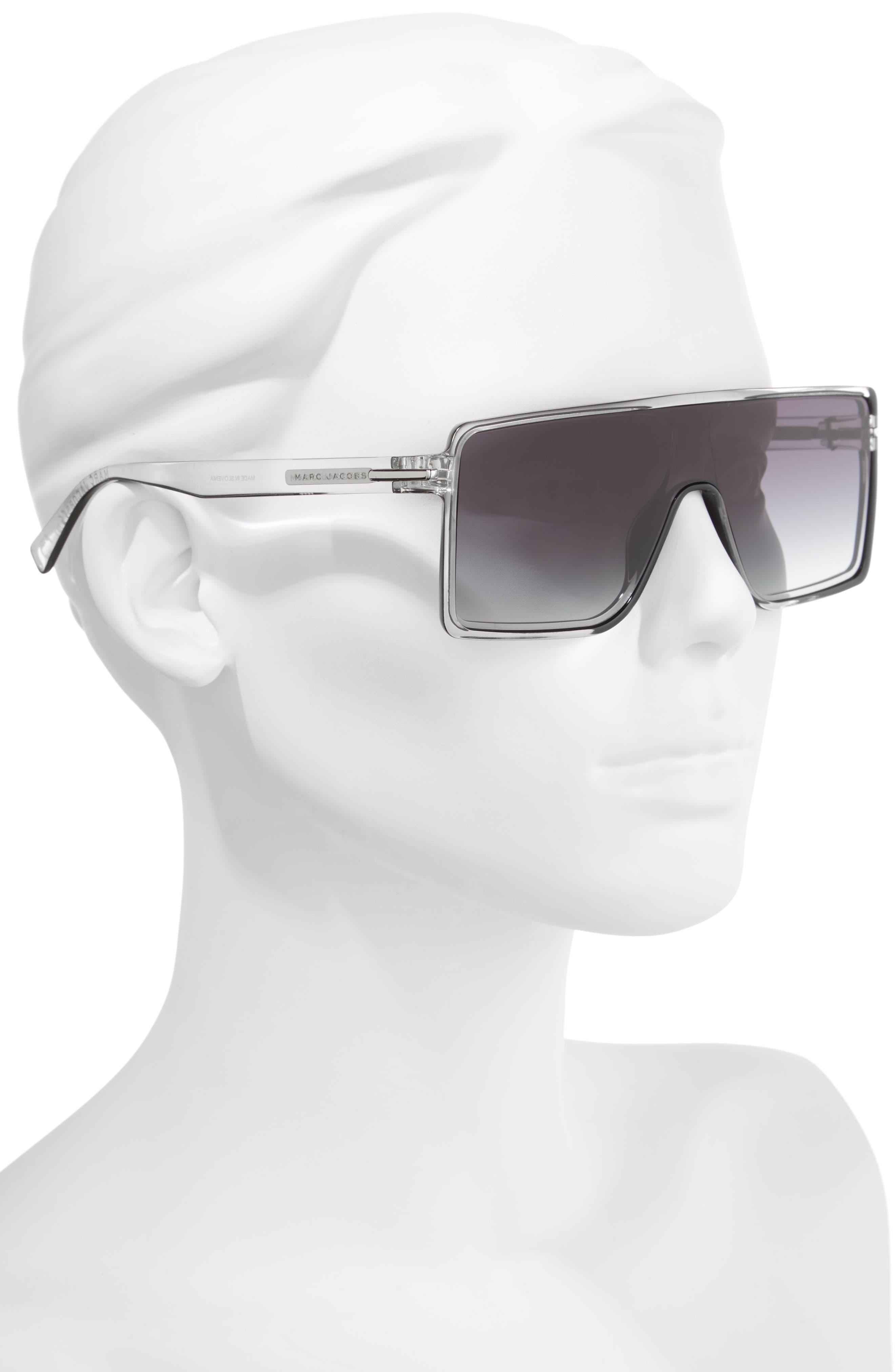 54mm Shield Sunglasses,                             Alternate thumbnail 2, color,                             001