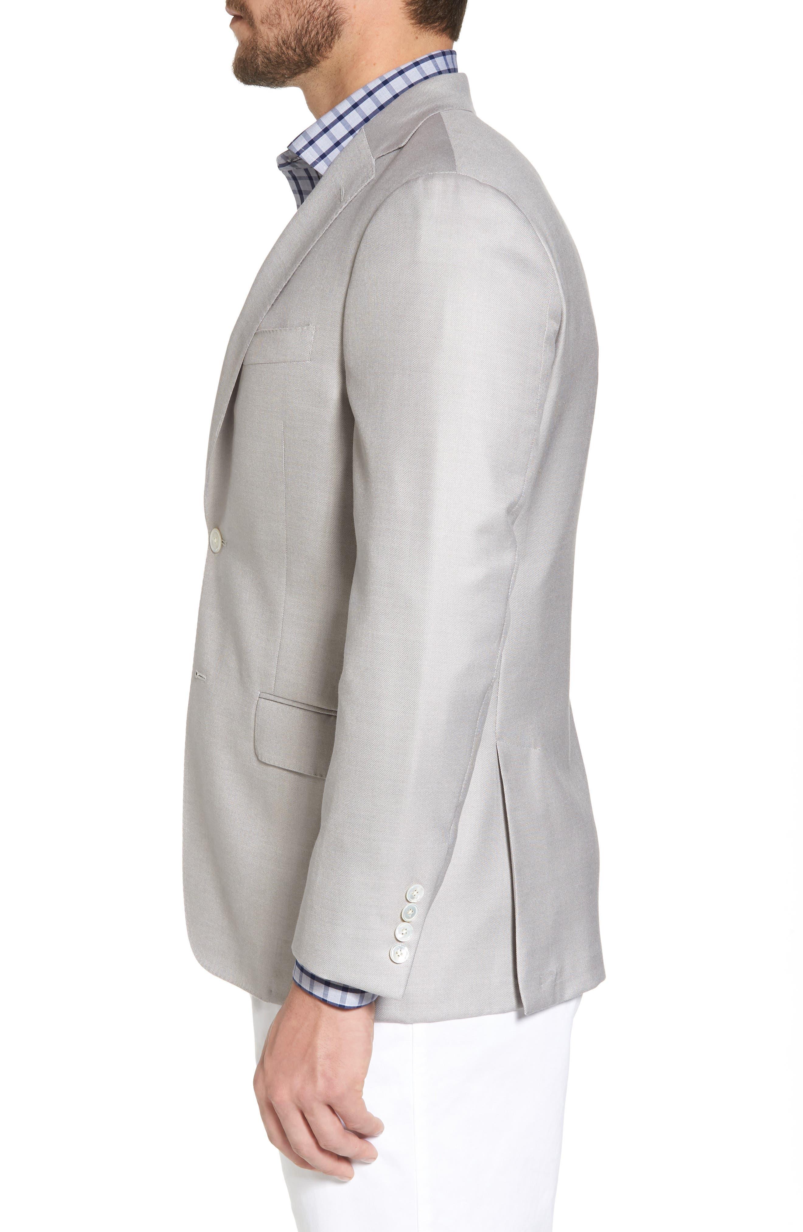 Classic B Fit Wool & Silk Blazer,                             Alternate thumbnail 3, color,