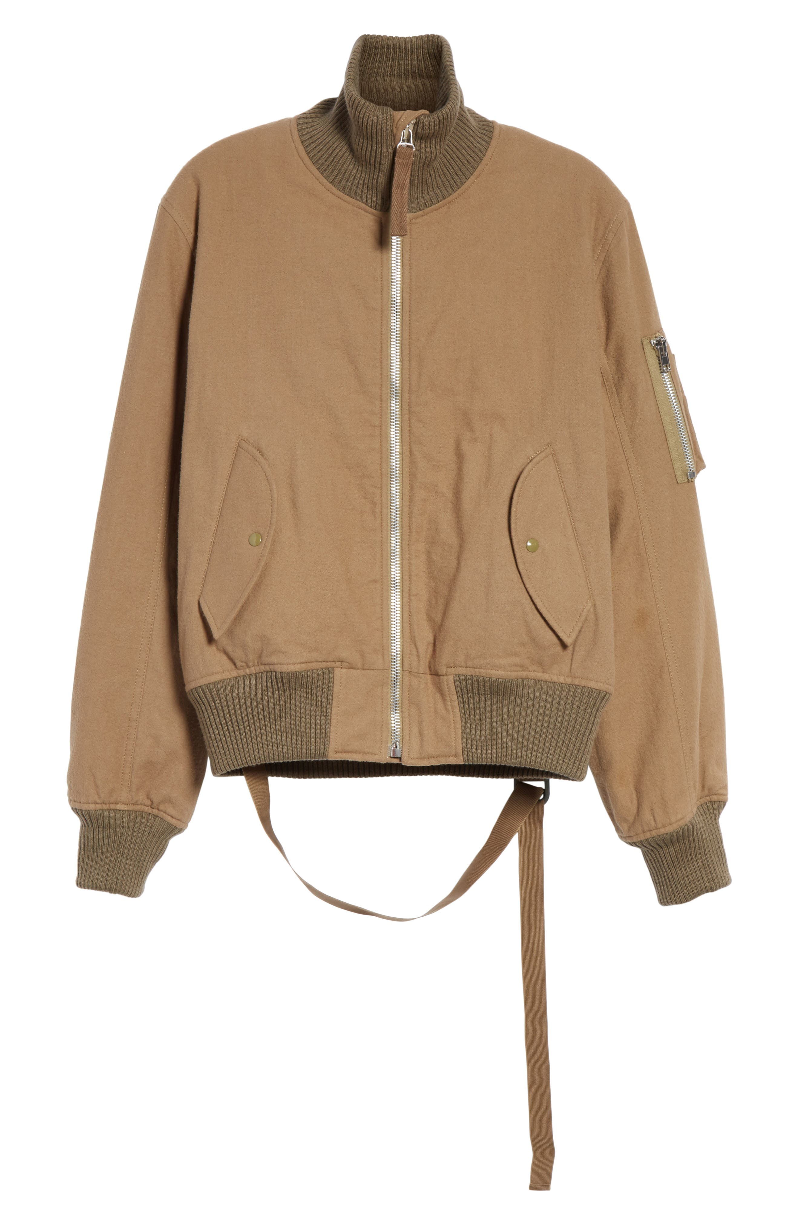 Re-Edition High Collar Bomber Jacket,                             Alternate thumbnail 5, color,                             317