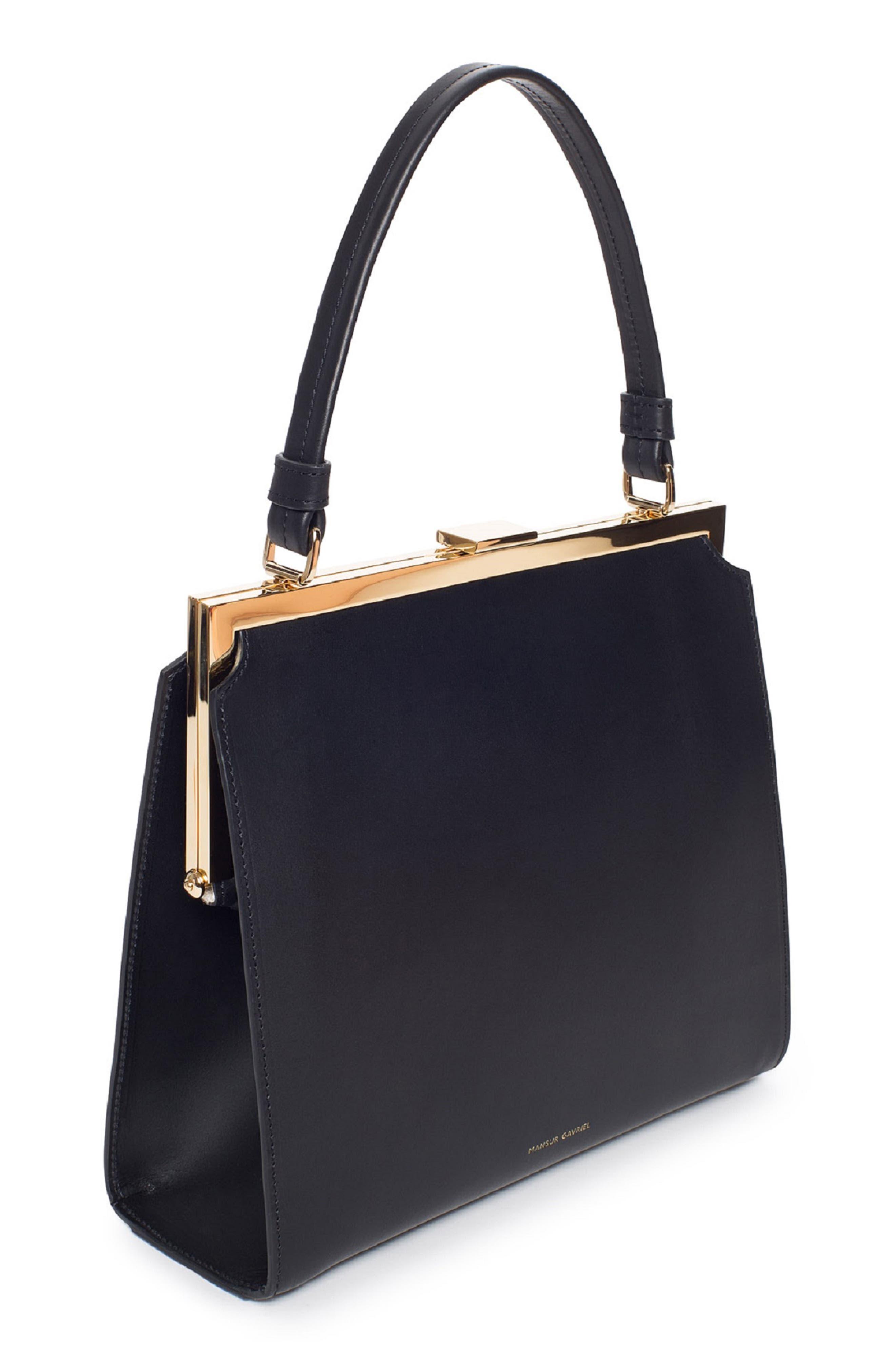 Elegant Leather Bag,                             Alternate thumbnail 3, color,                             001