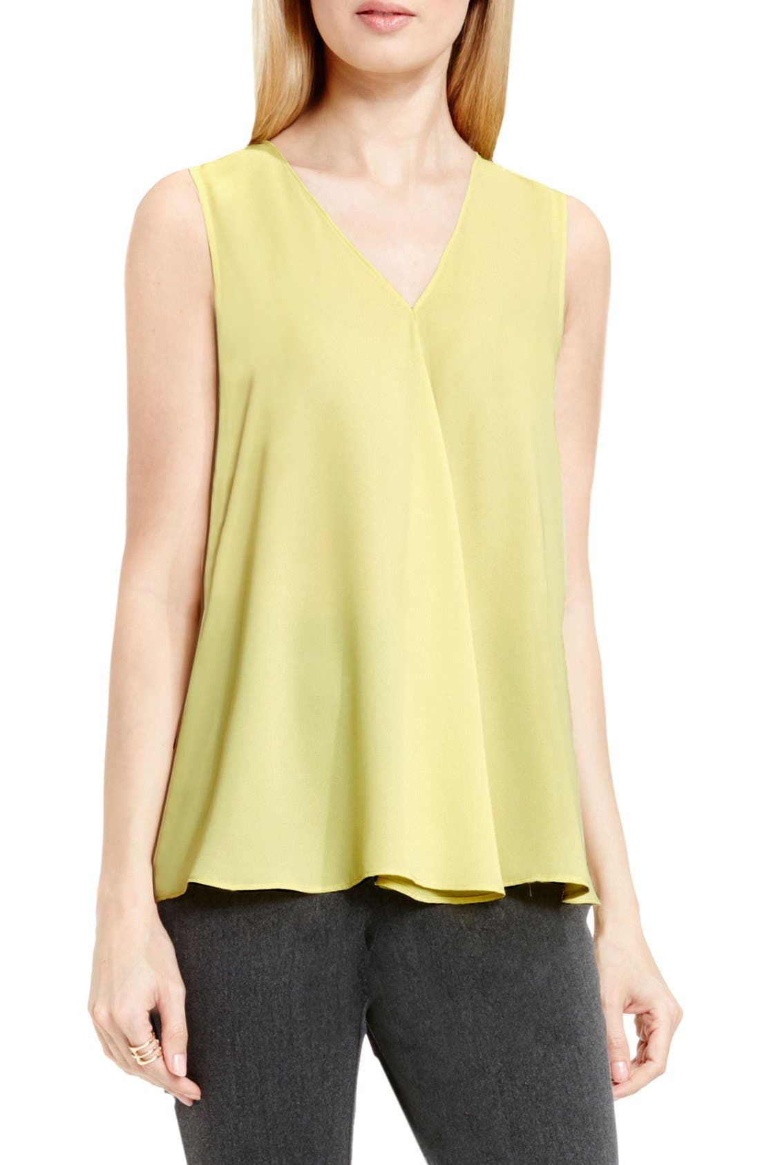 Drape Front V-Neck Sleeveless Blouse,                             Main thumbnail 7, color,