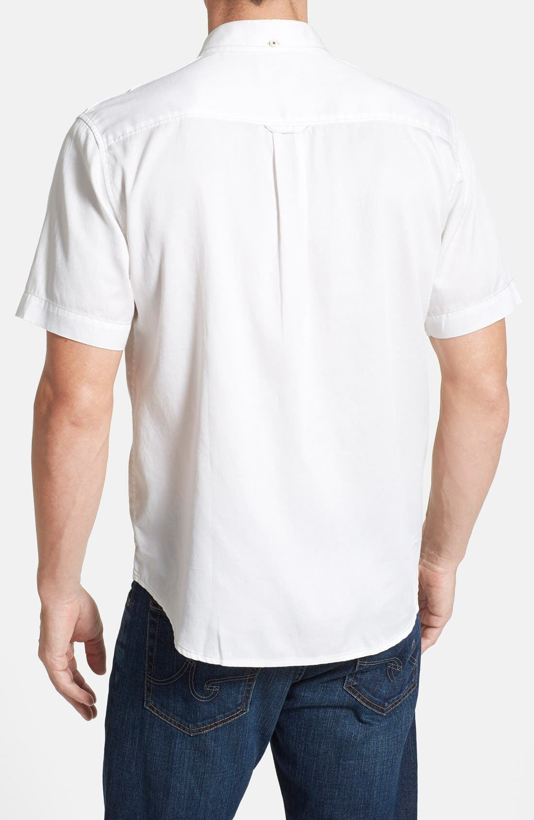 'New Twilly' Island Modern Fit Short Sleeve Twill Shirt,                             Alternate thumbnail 30, color,
