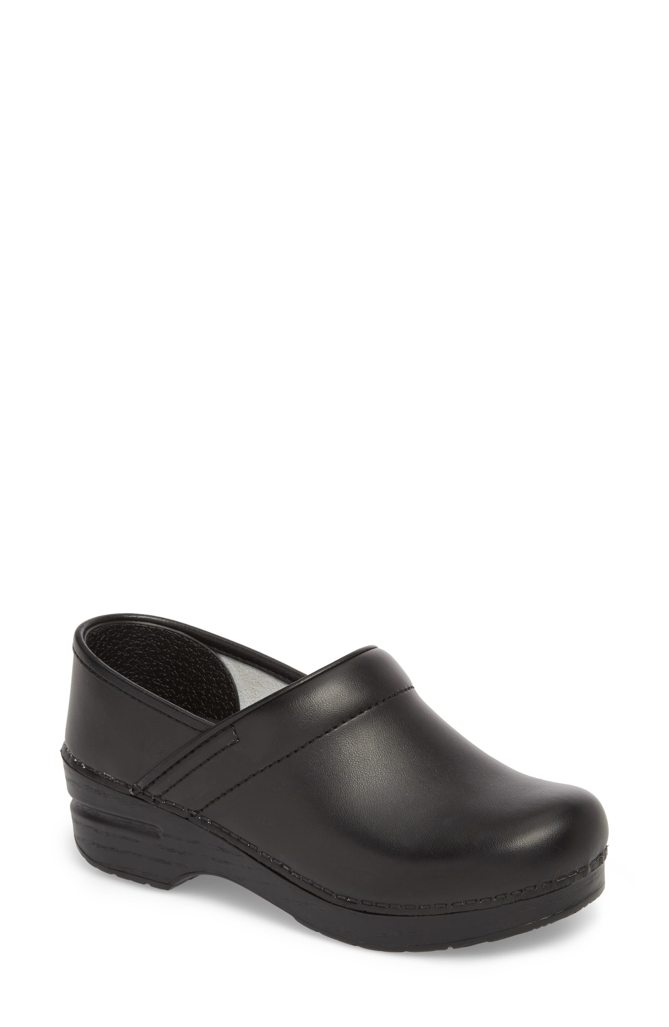 'Professional' Clog,                         Main,                         color, BLACK LEATHER