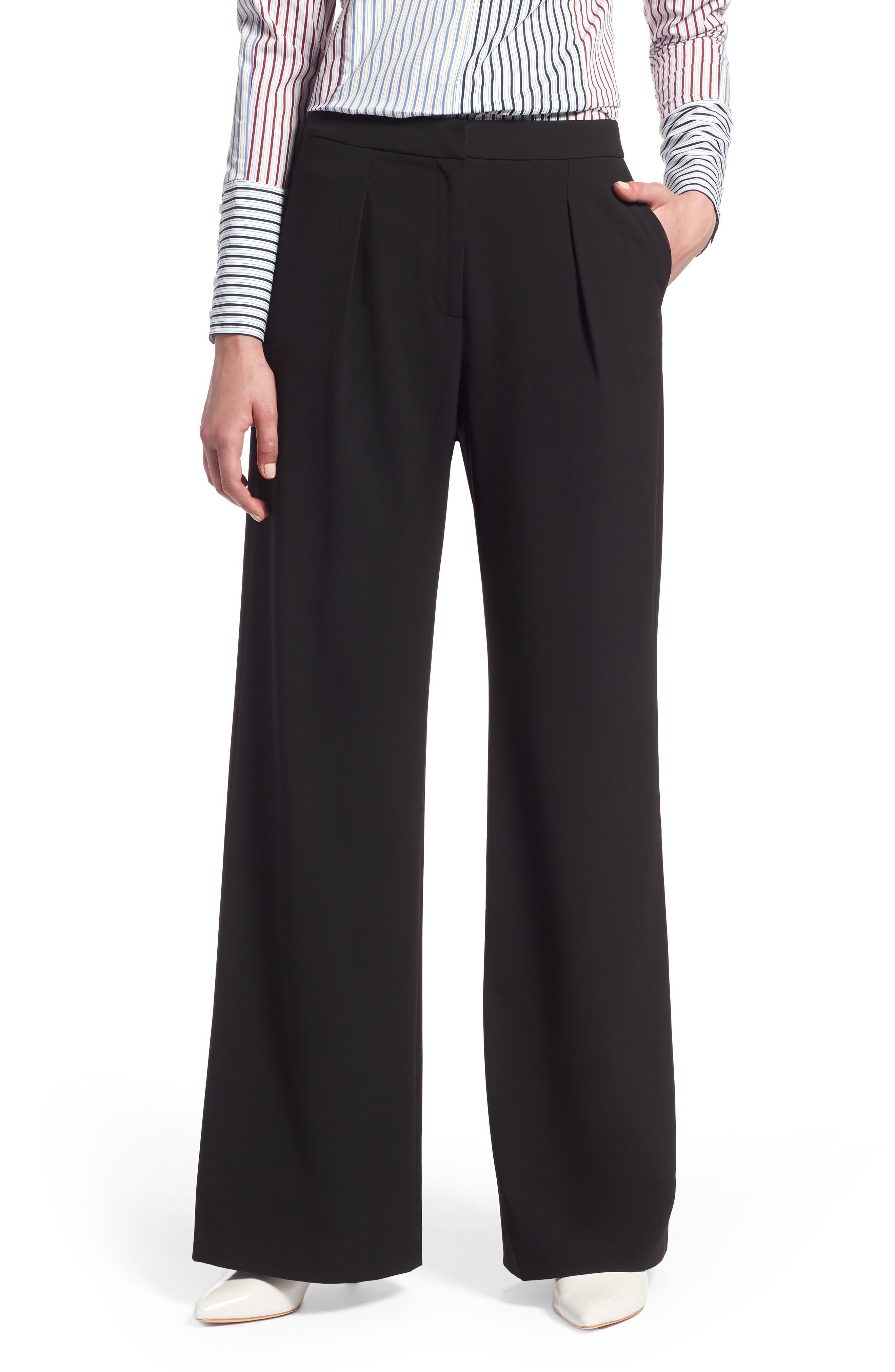 High Waist Wide Leg Pants,                         Main,                         color, 001