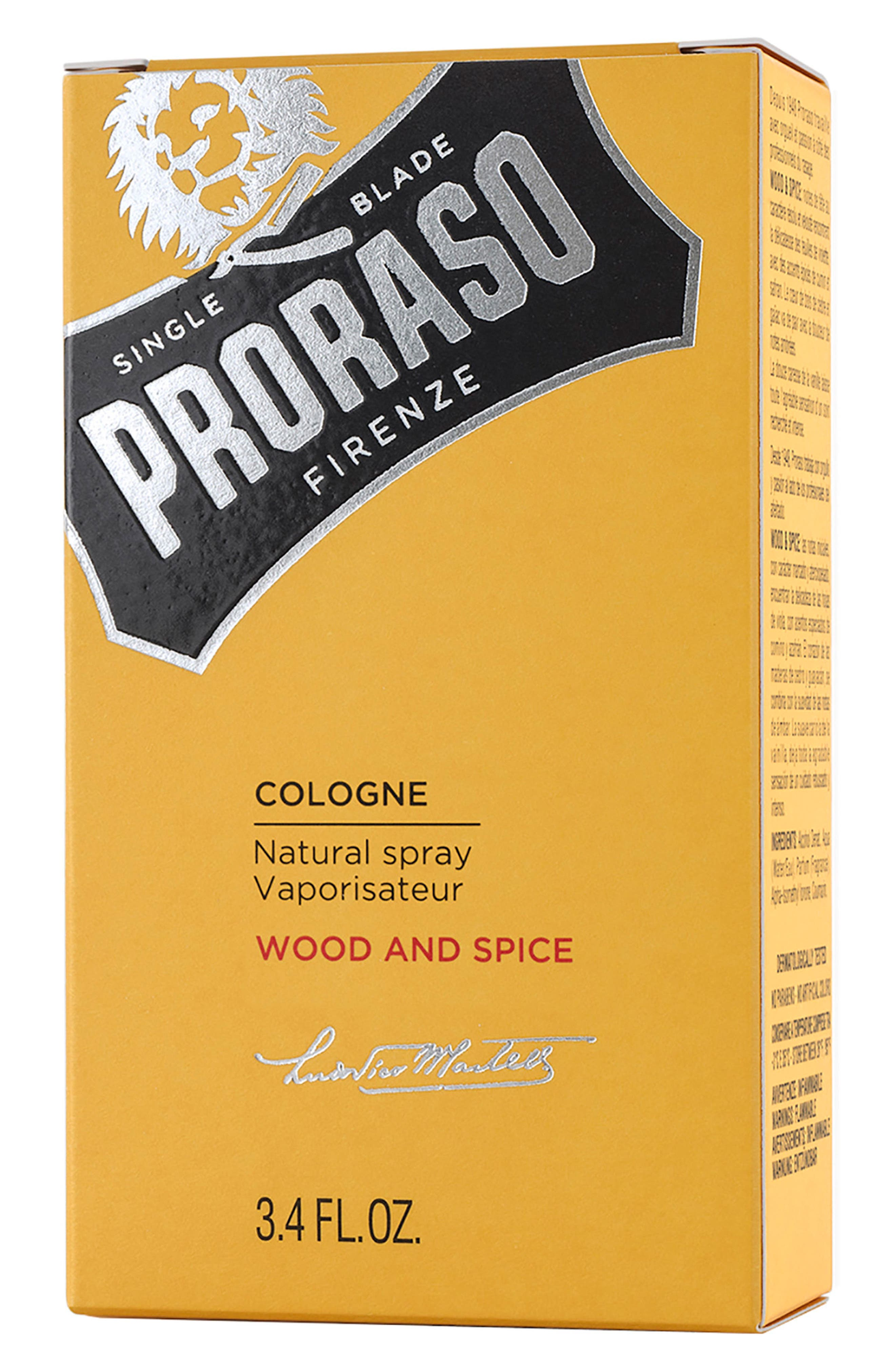 PRORASO,                             Men's Grooming Wood and Spice Cologne,                             Alternate thumbnail 3, color,                             NO COLOR