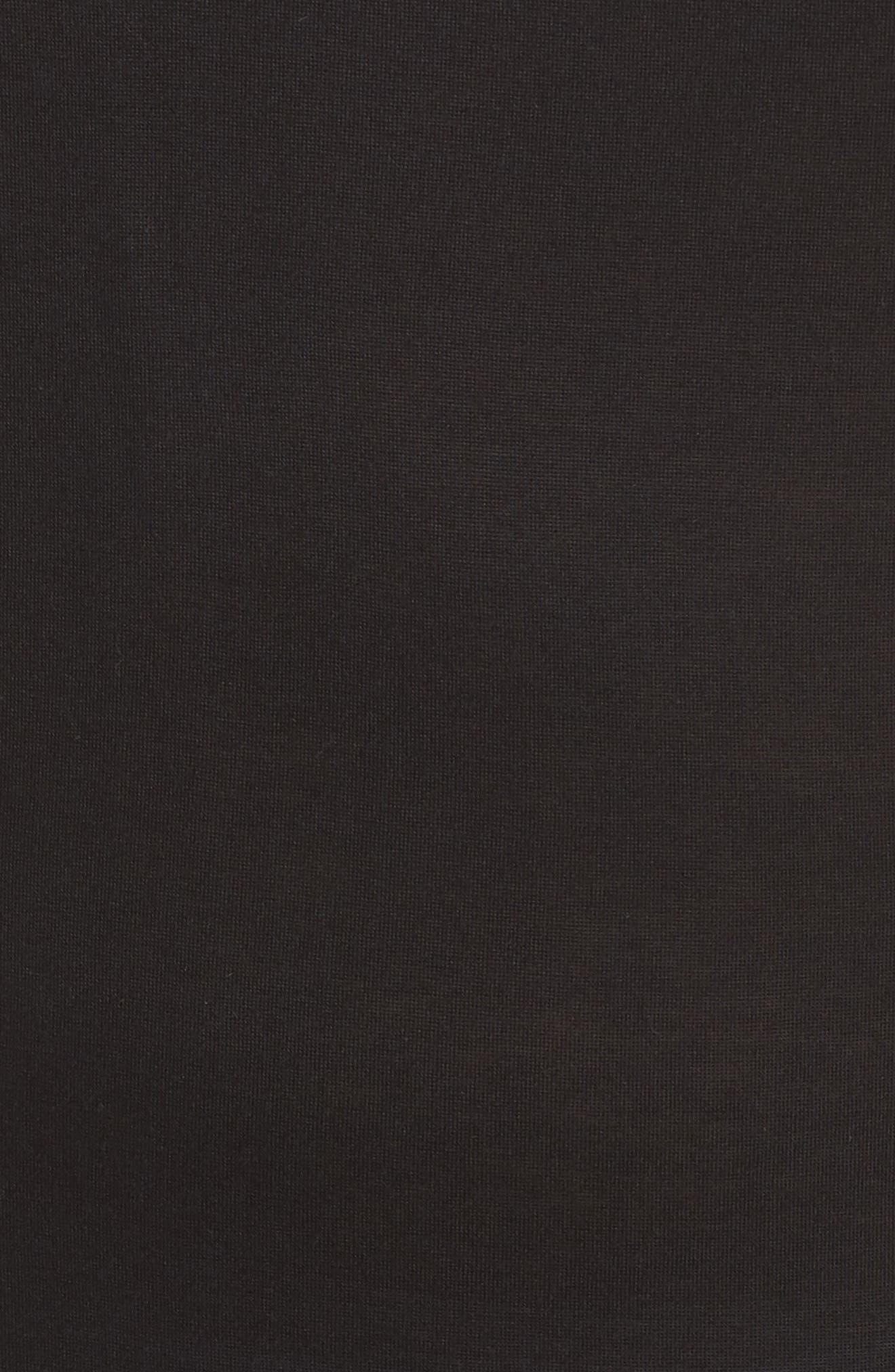 Racerback Cover-Up Tank Dress,                             Alternate thumbnail 5, color,                             BLACK