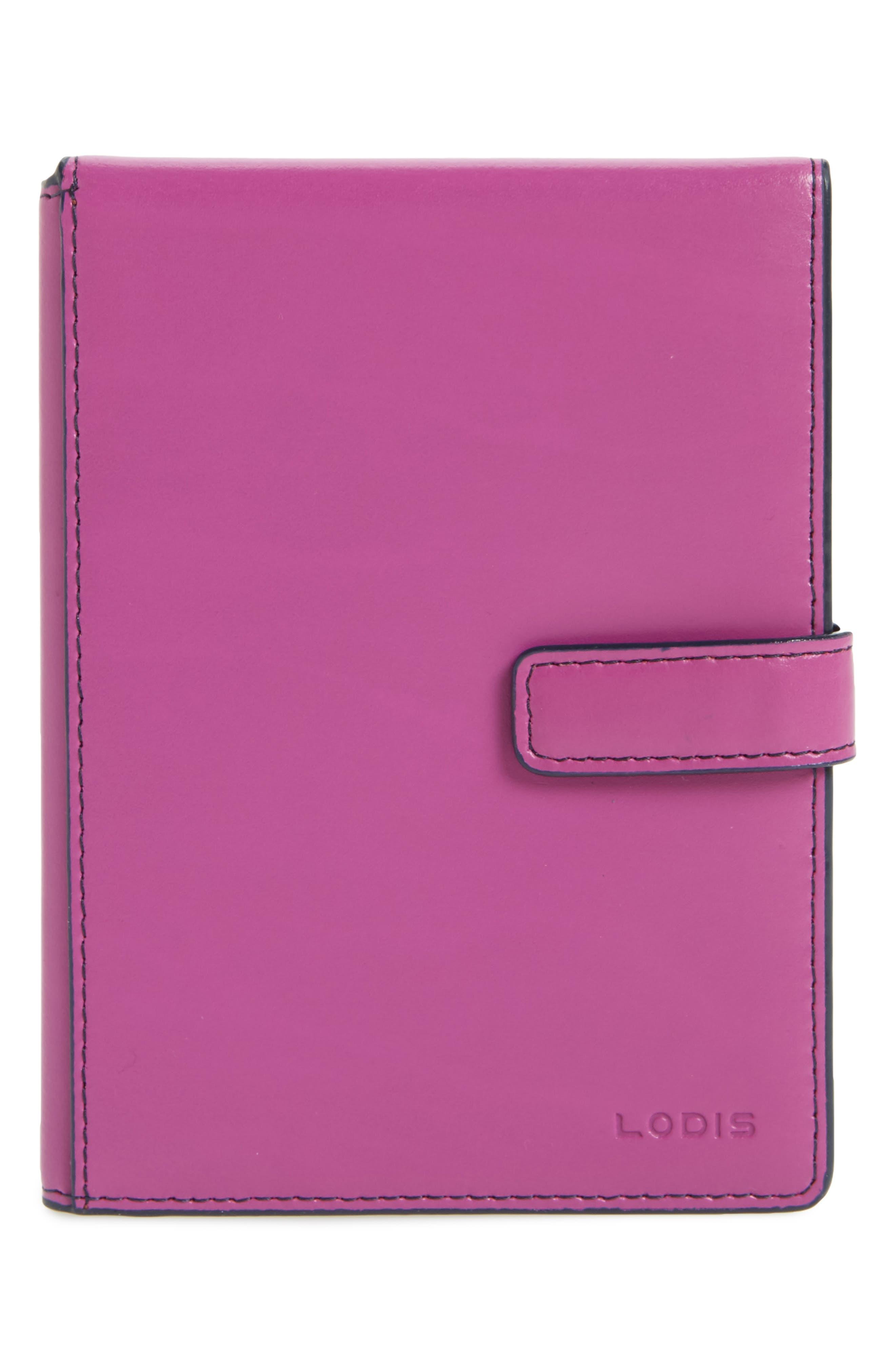 Audrey RFID Leather Passport Wallet,                             Main thumbnail 3, color,