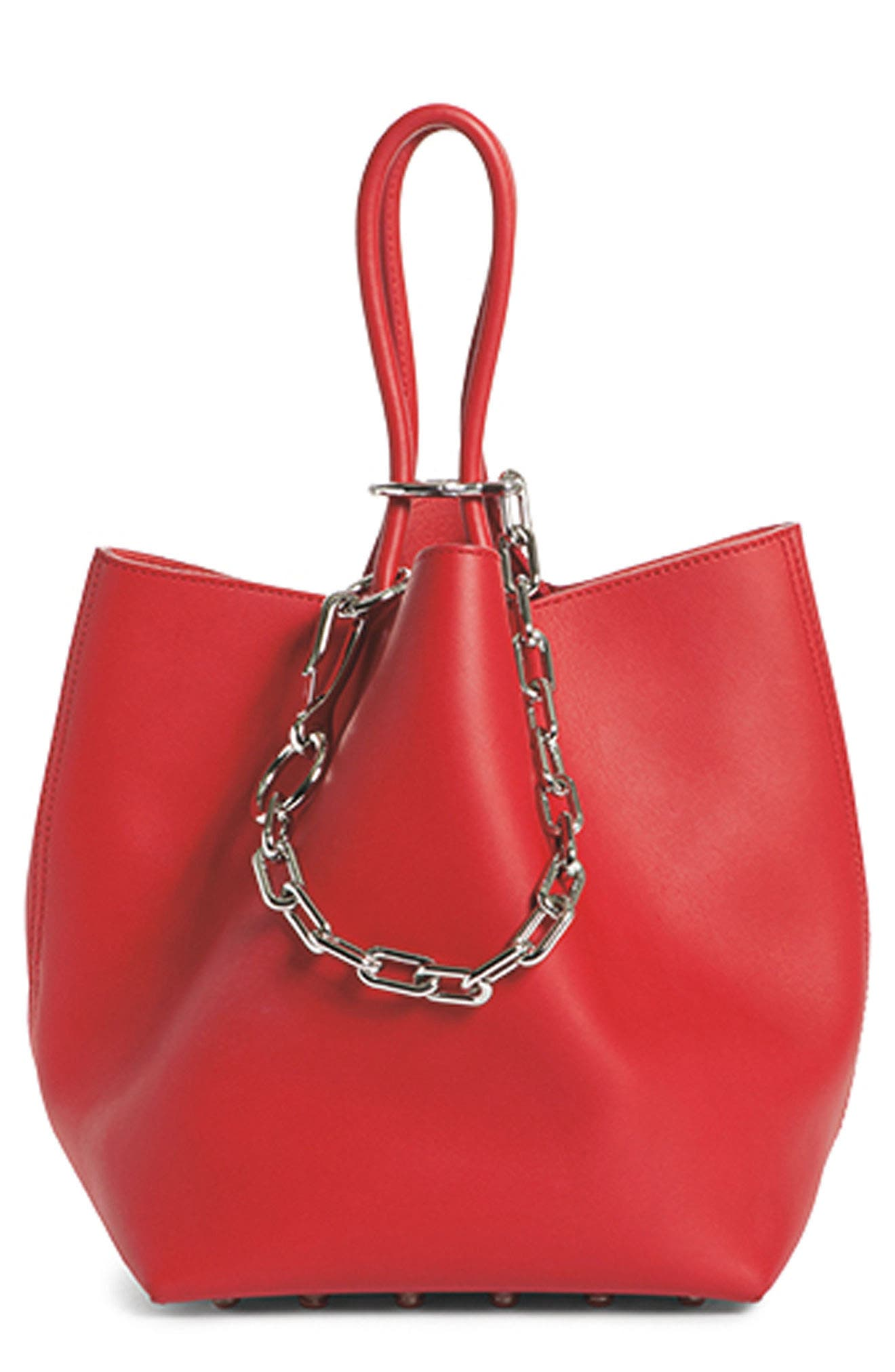 Small Roxy Leather Bucket Bag,                             Alternate thumbnail 8, color,                             601