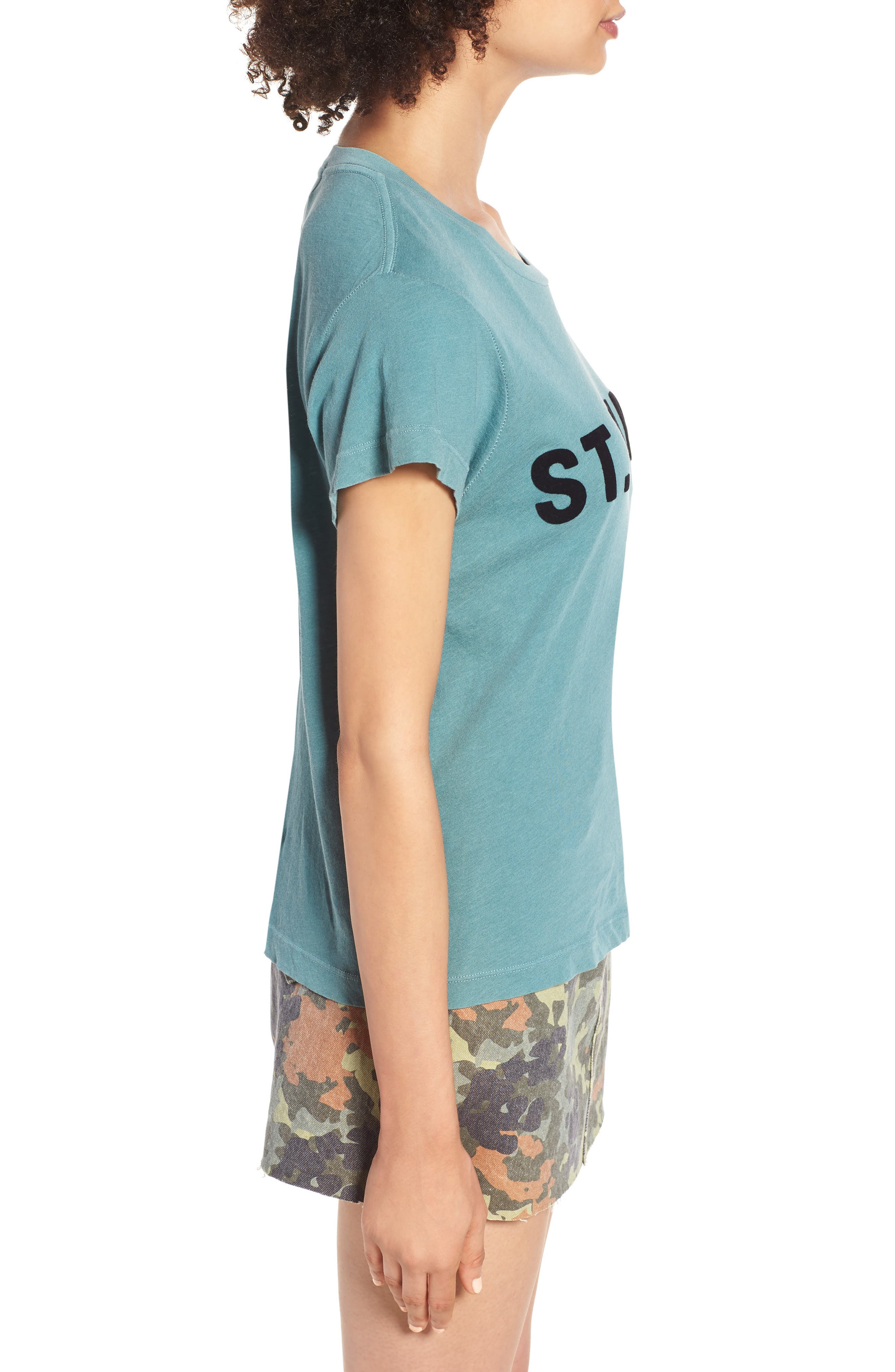 St. Barts Tee,                             Alternate thumbnail 3, color,                             PIGMENT GREEN TROPICS