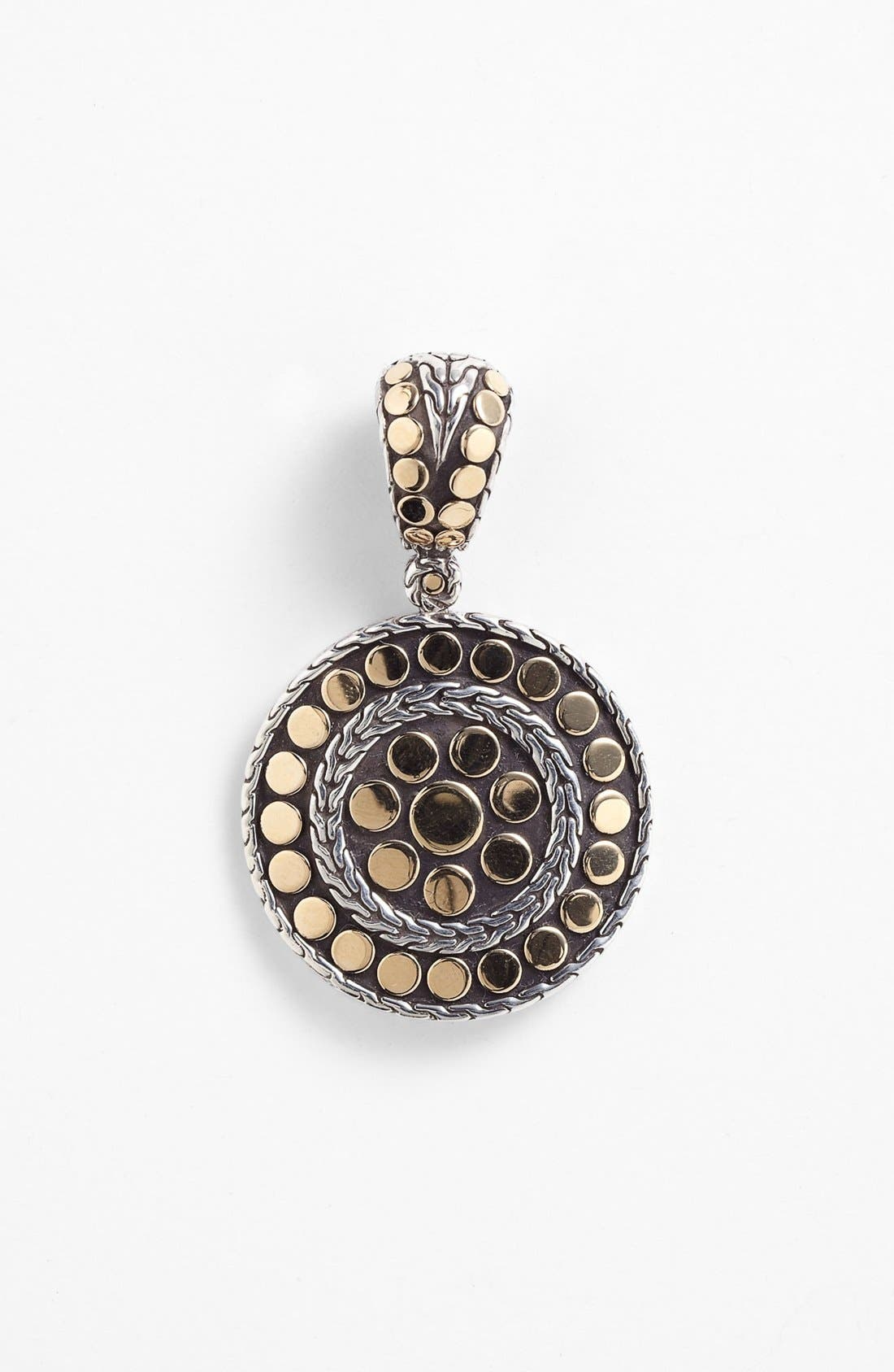 'Dot' Round Pendant,                             Main thumbnail 1, color,                             SILVER/ GOLD