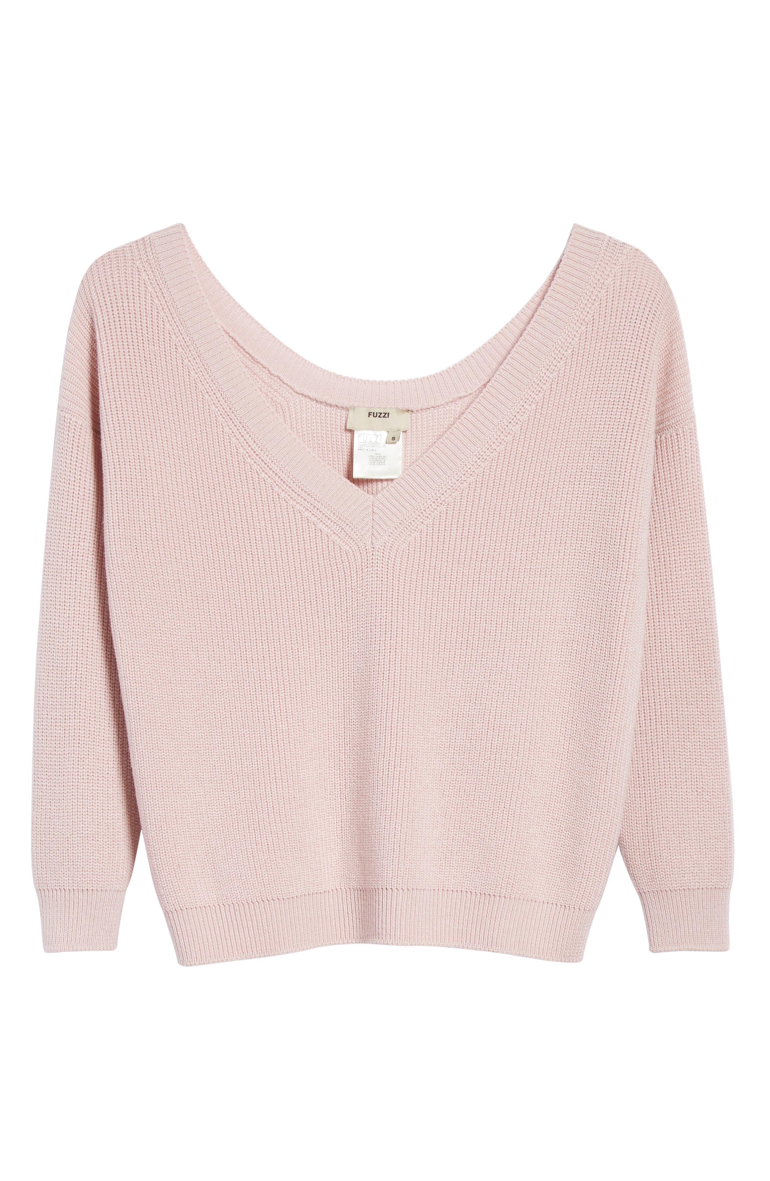 V-Neck Wool Sweater,                             Alternate thumbnail 6, color,                             686